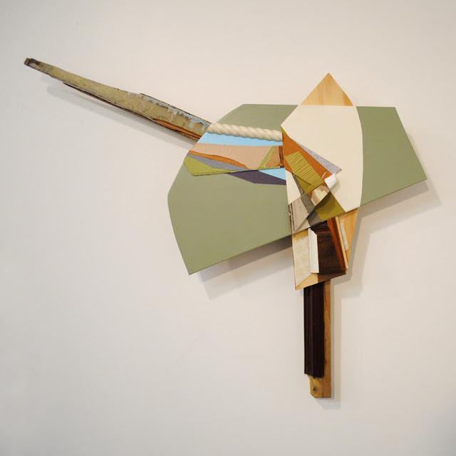 Jeff Robinson,  Mechanical Trope  , wood, mixed media    @ The Times Club, Iowa City, IA    February 2013
