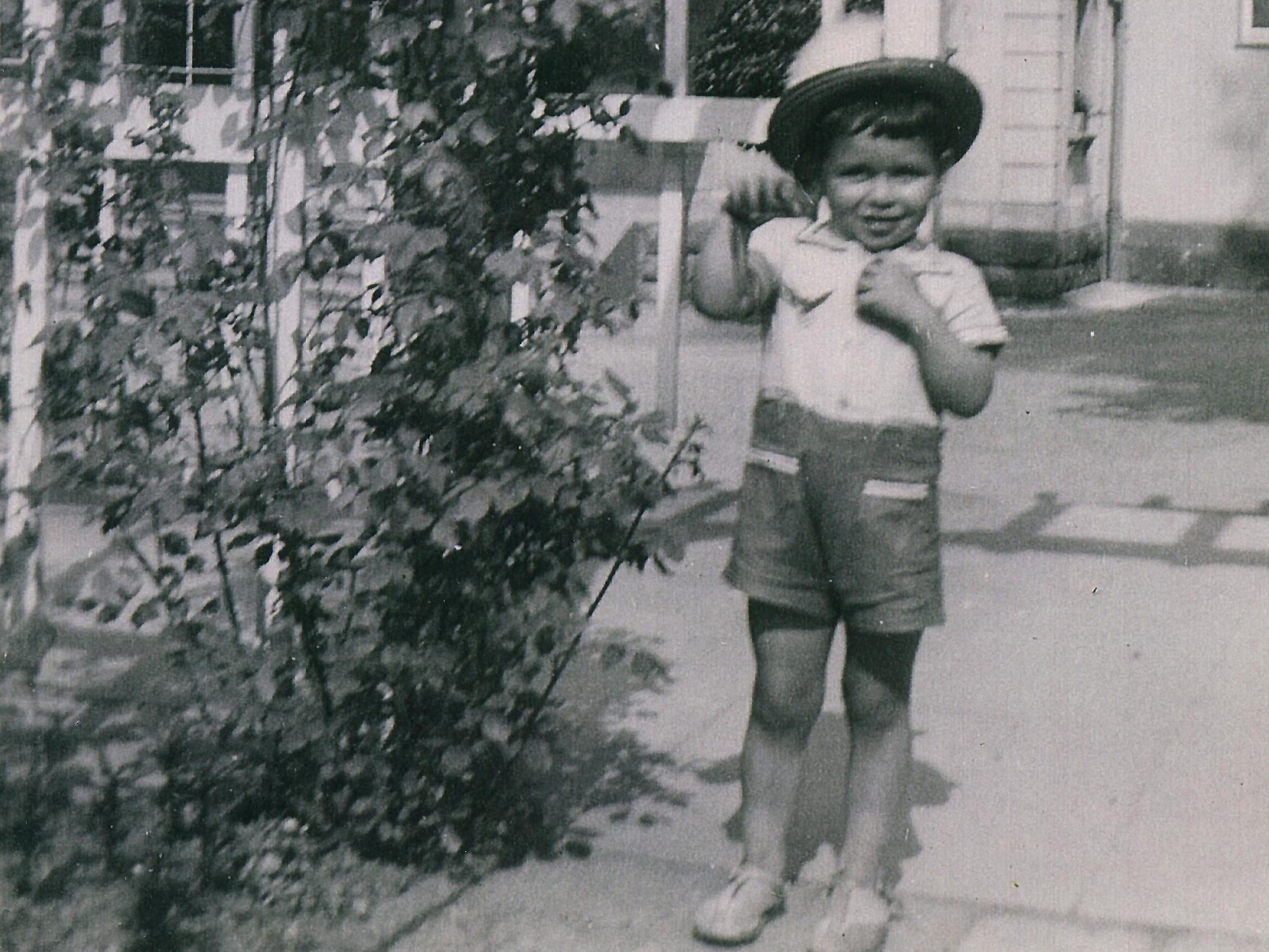 Our father - Arturo Castellanos in Hamburg (courtesy of Blanca Castellanos)
