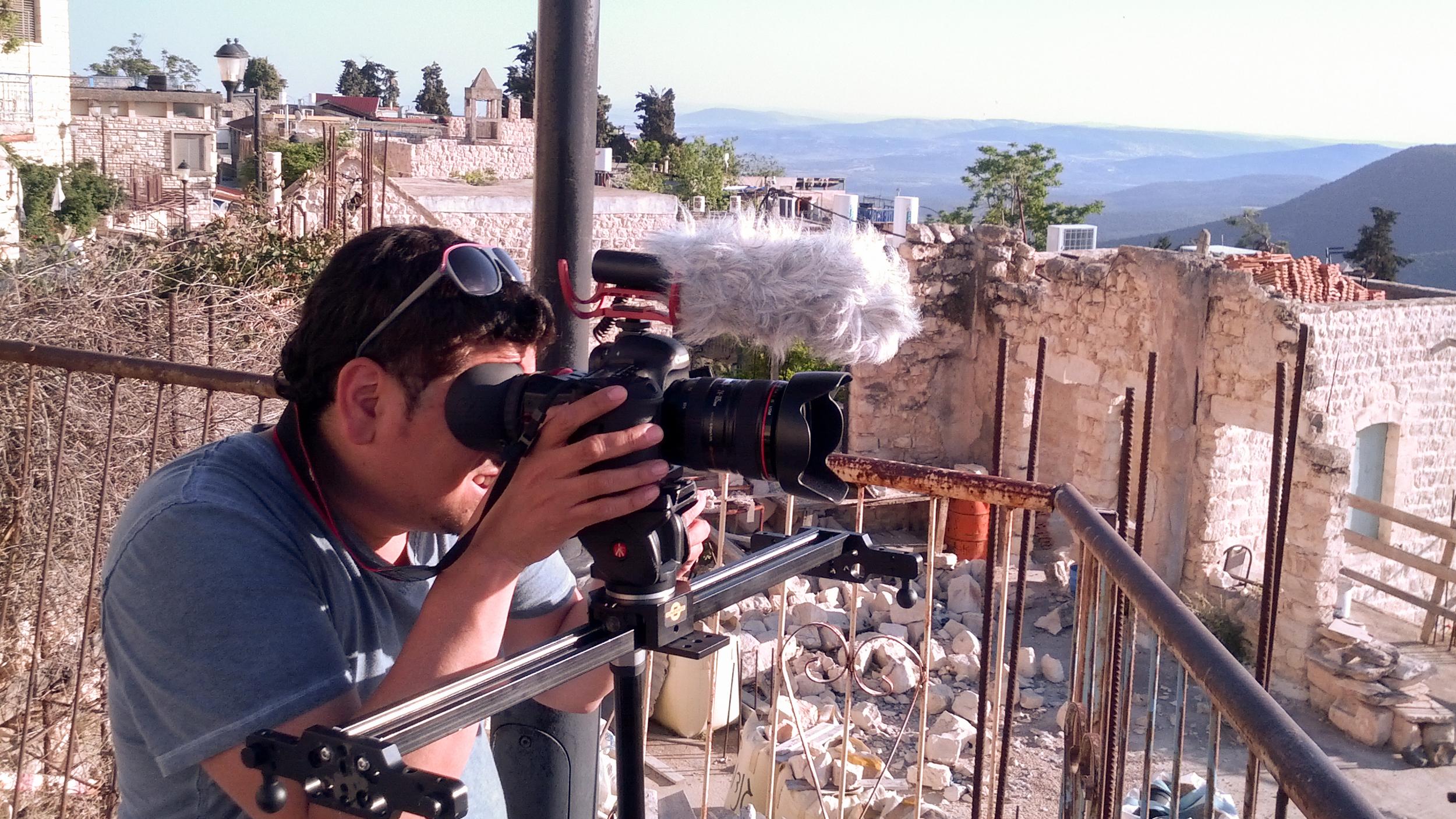Filming in Svat, Israel