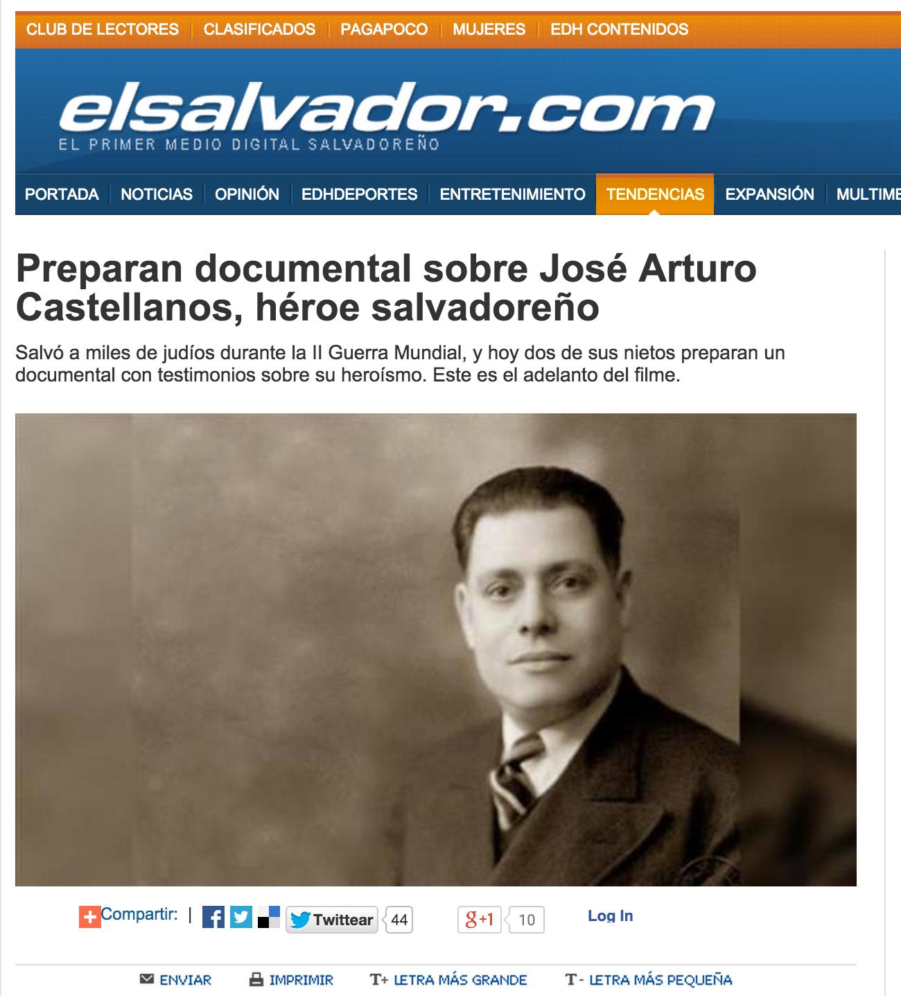 Documental sobre José Arturo Castellanos - elsalvador.com