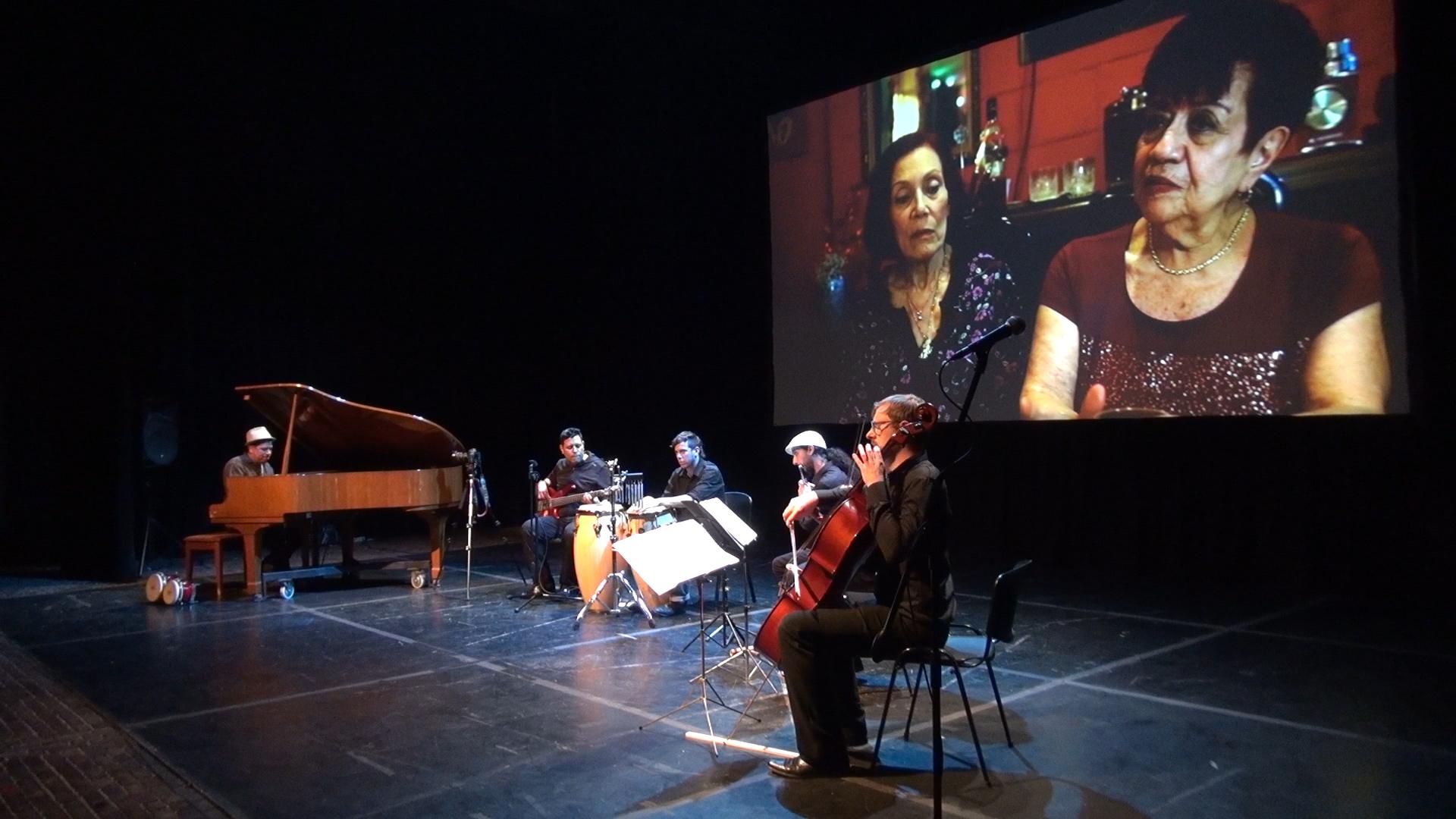 Alvaro and Boris Castellanos performing THE RESCUE - A Live Film-Concerto in Argentina