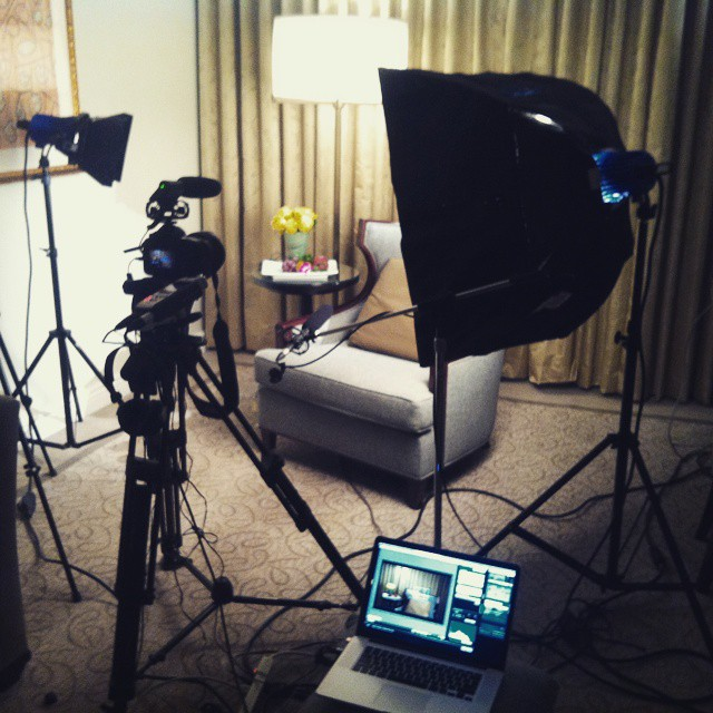 Setting up for NYC interview shoot - October, 2013 #castellanosmovie #documentary #jac