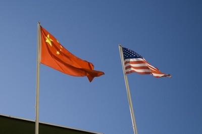 China-US Flags