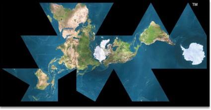 Buckminster Fuller's Dymaxion World Map
