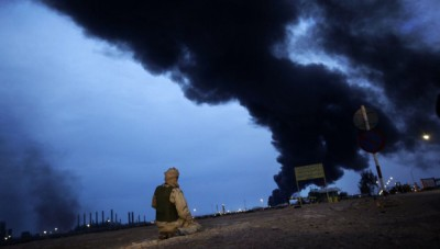 Libyan Refinery Burns
