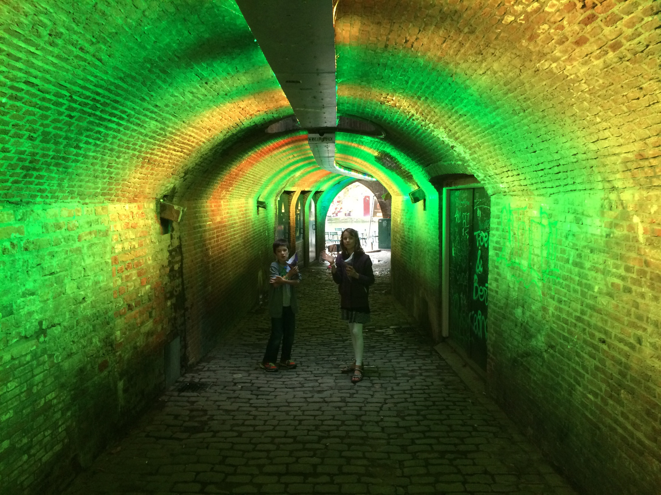Exploring the canal vaults in Utrecht
