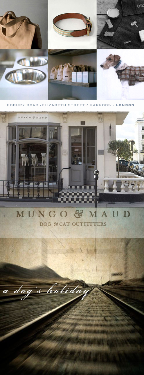 Visit:  Mungo & Maud Dog & Cat Outfitters