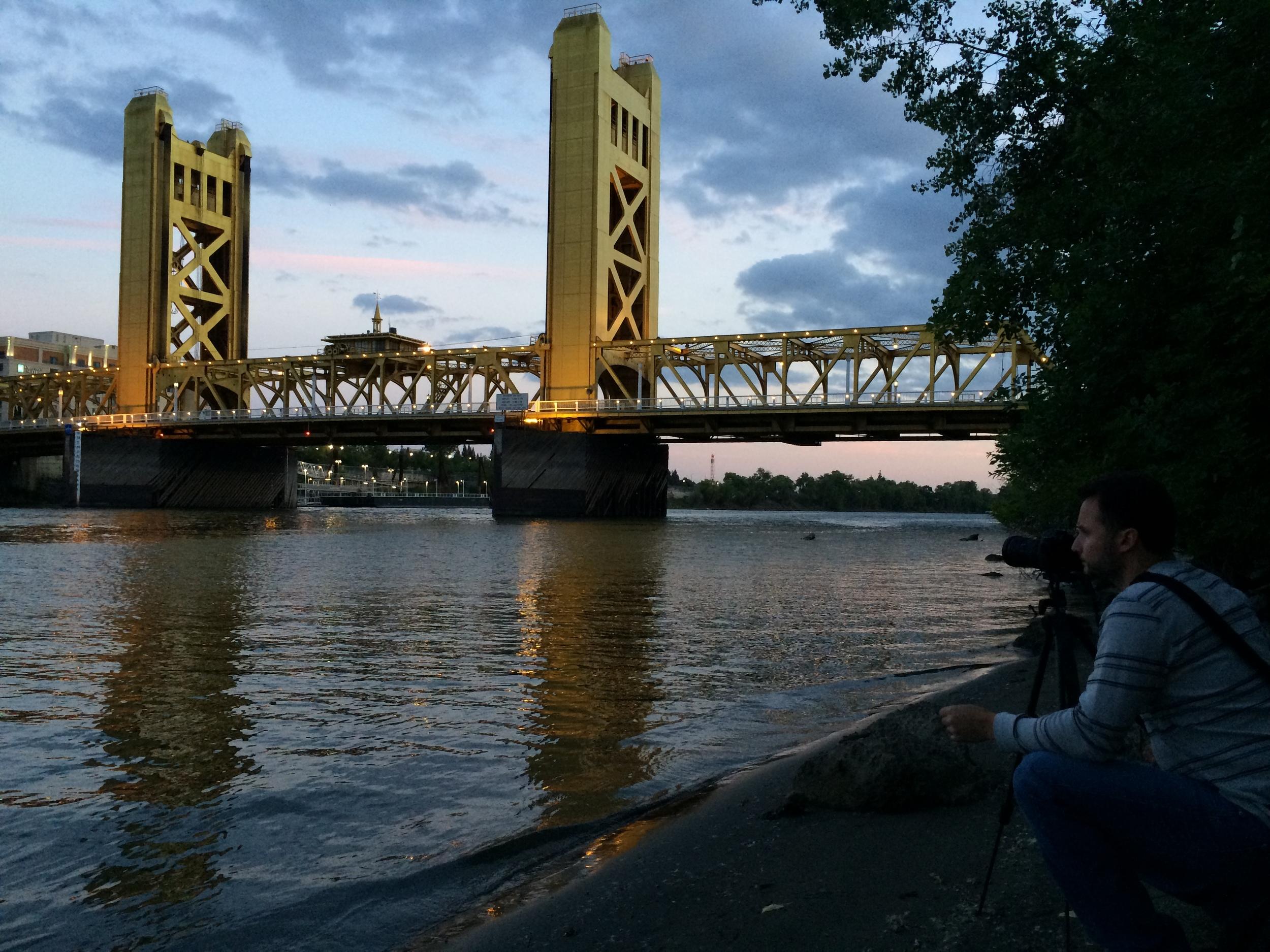 2014 photo shoot of Sacramento's Tower Bridge