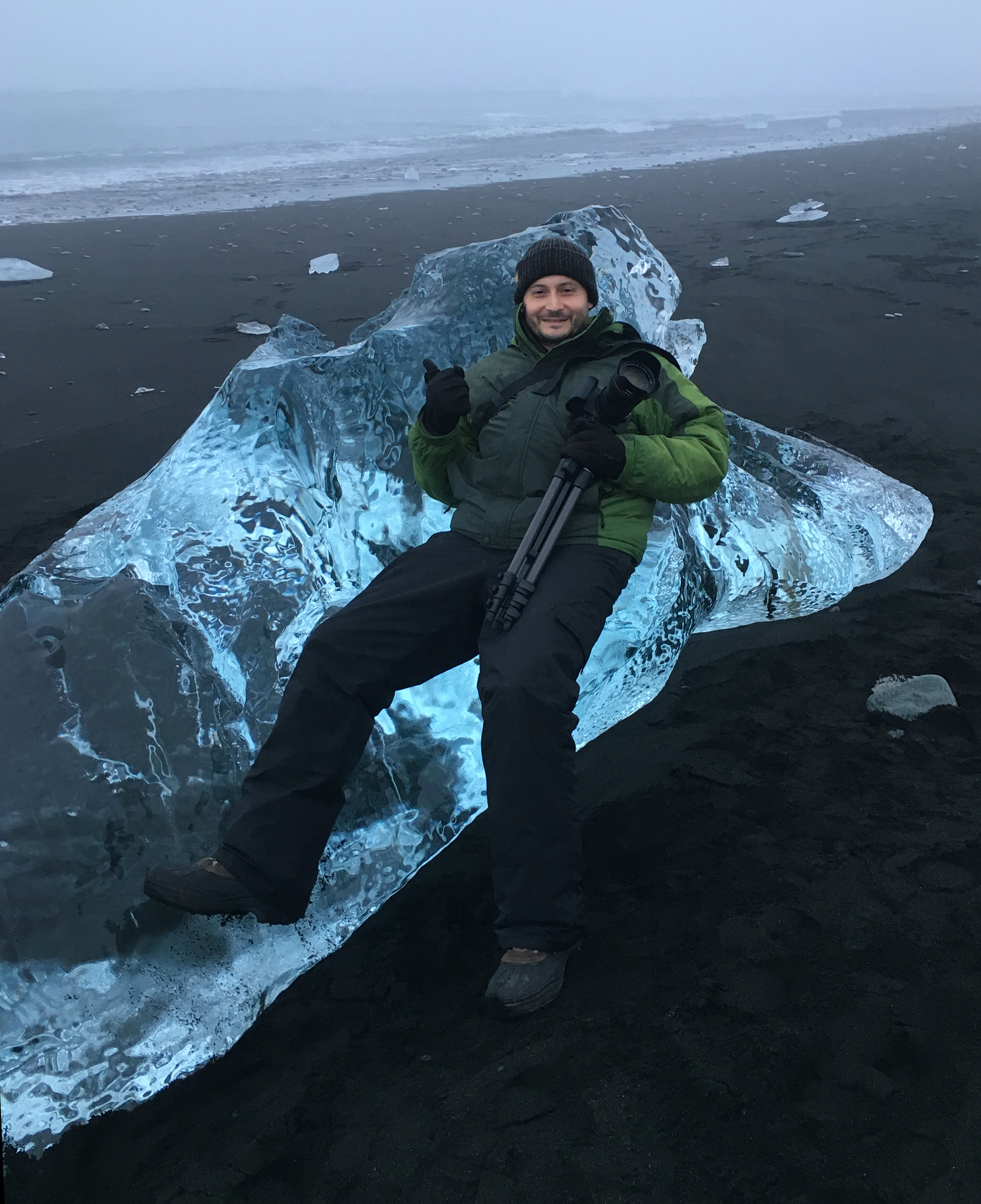 Josh Posvancz taking a break from a photoshoot in South East Iceland in 2015.