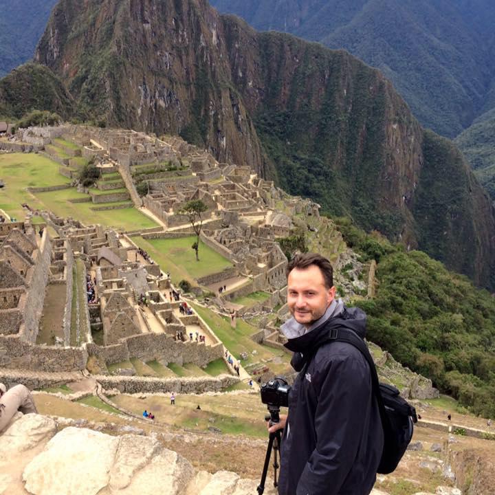 Josh on location in Machu Picchu, Peru.
