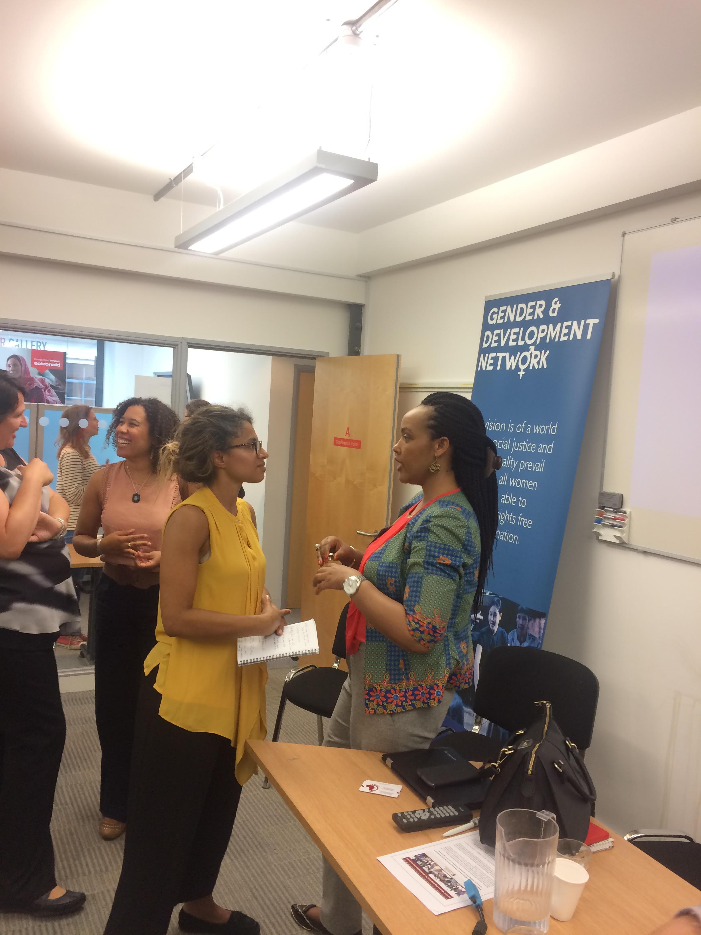 GADN members meet FEMNET Executive Director, Dinah Musindarwezo, June 2017