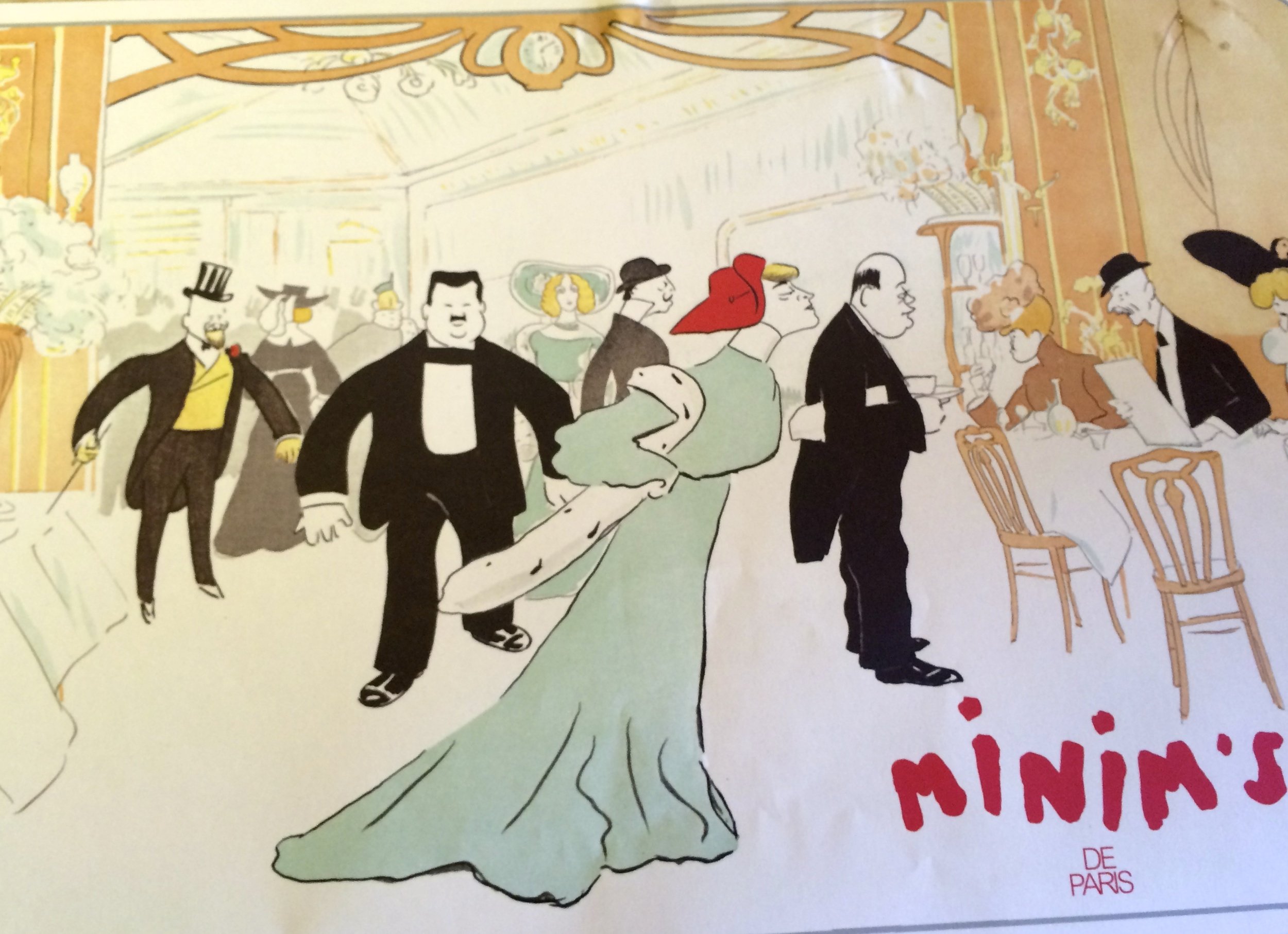 I think different experiences are important in keeping each of us stimulated, especially the brain. It also helps keep relationships fresh. It is not necessary to spend wads of money to have a good time. We had lunch at Minim's at Maxim's for a fraction of the cost.