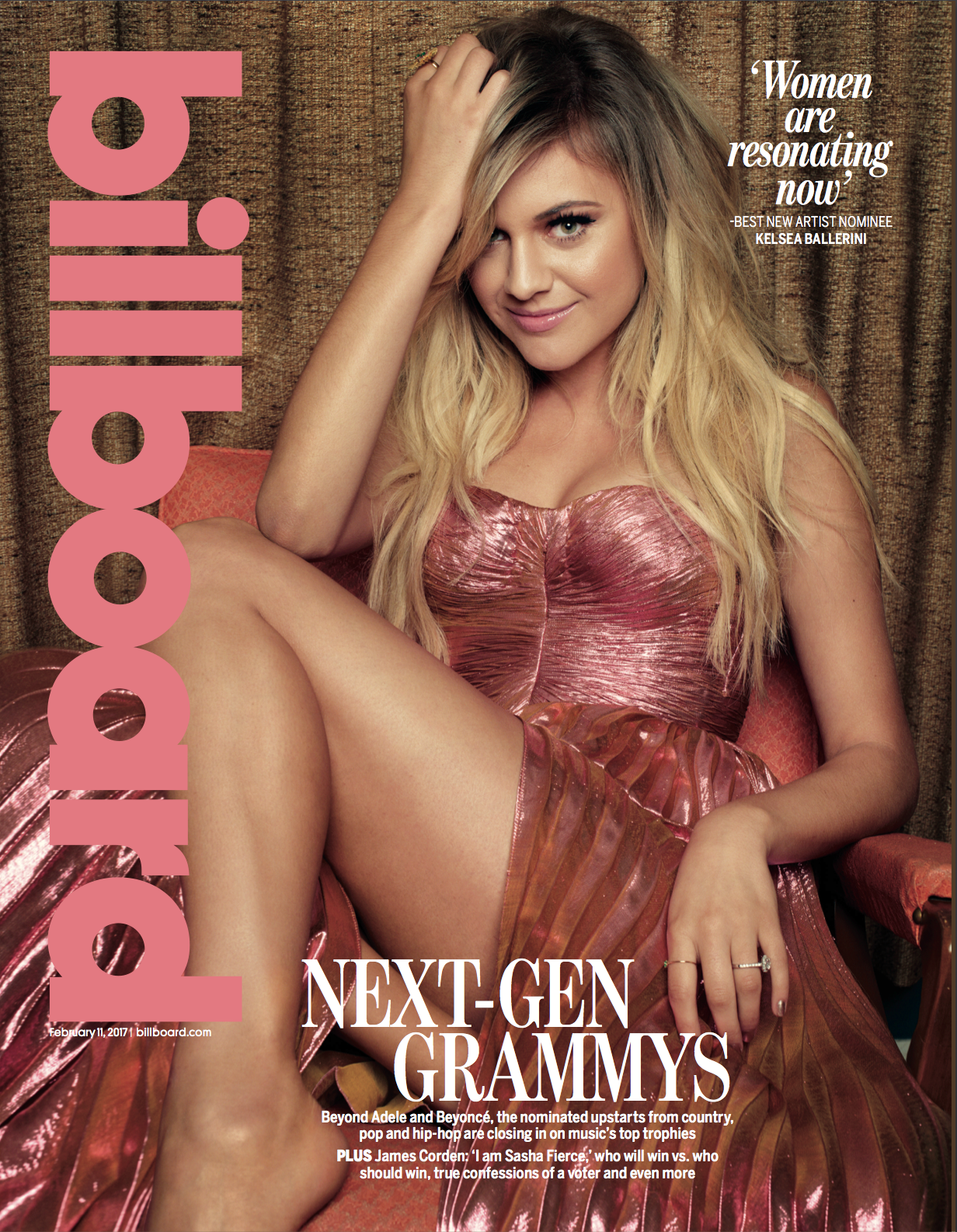 Kelsea Ballerini, Billboard Cover Shoot, Feb. 2017