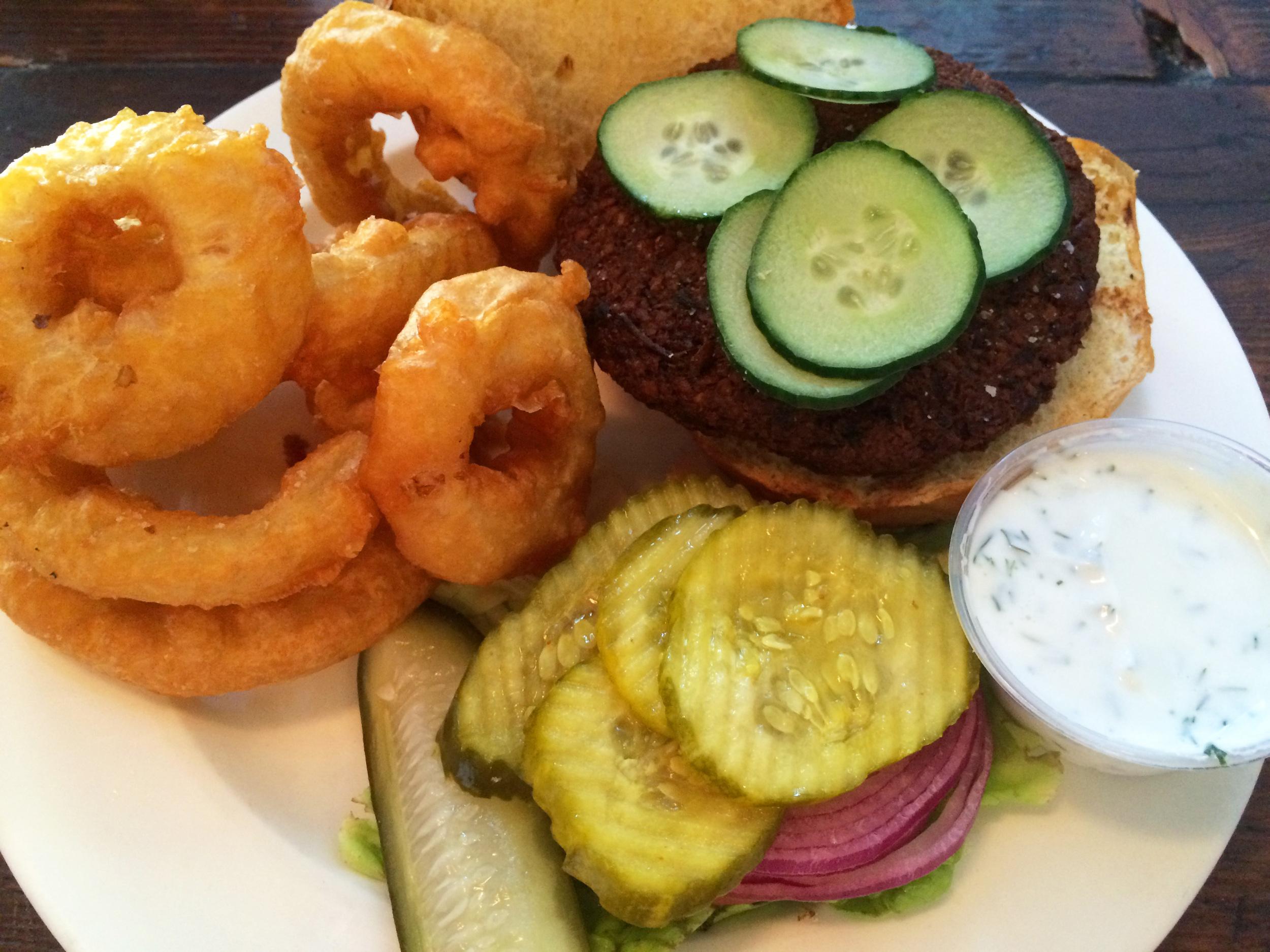 Chickpea burger at DuMont Burger