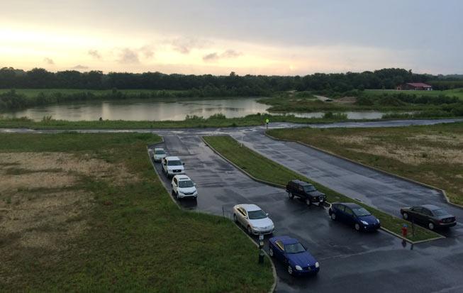 Lewes, DE - sunset after the storm