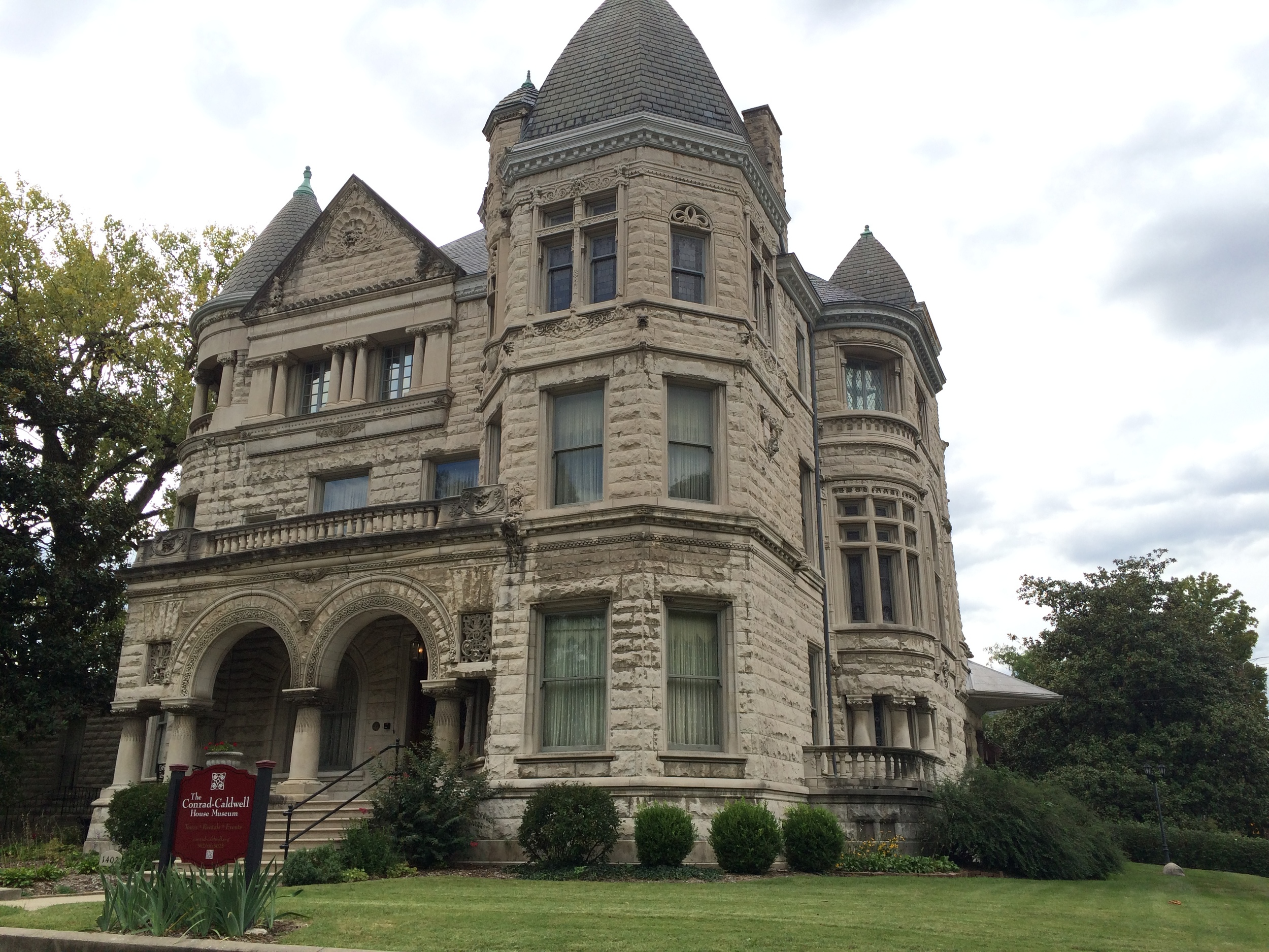 The Conrad-Caldwell House, built in a Romanesque style in 1895, in Old Louisville.