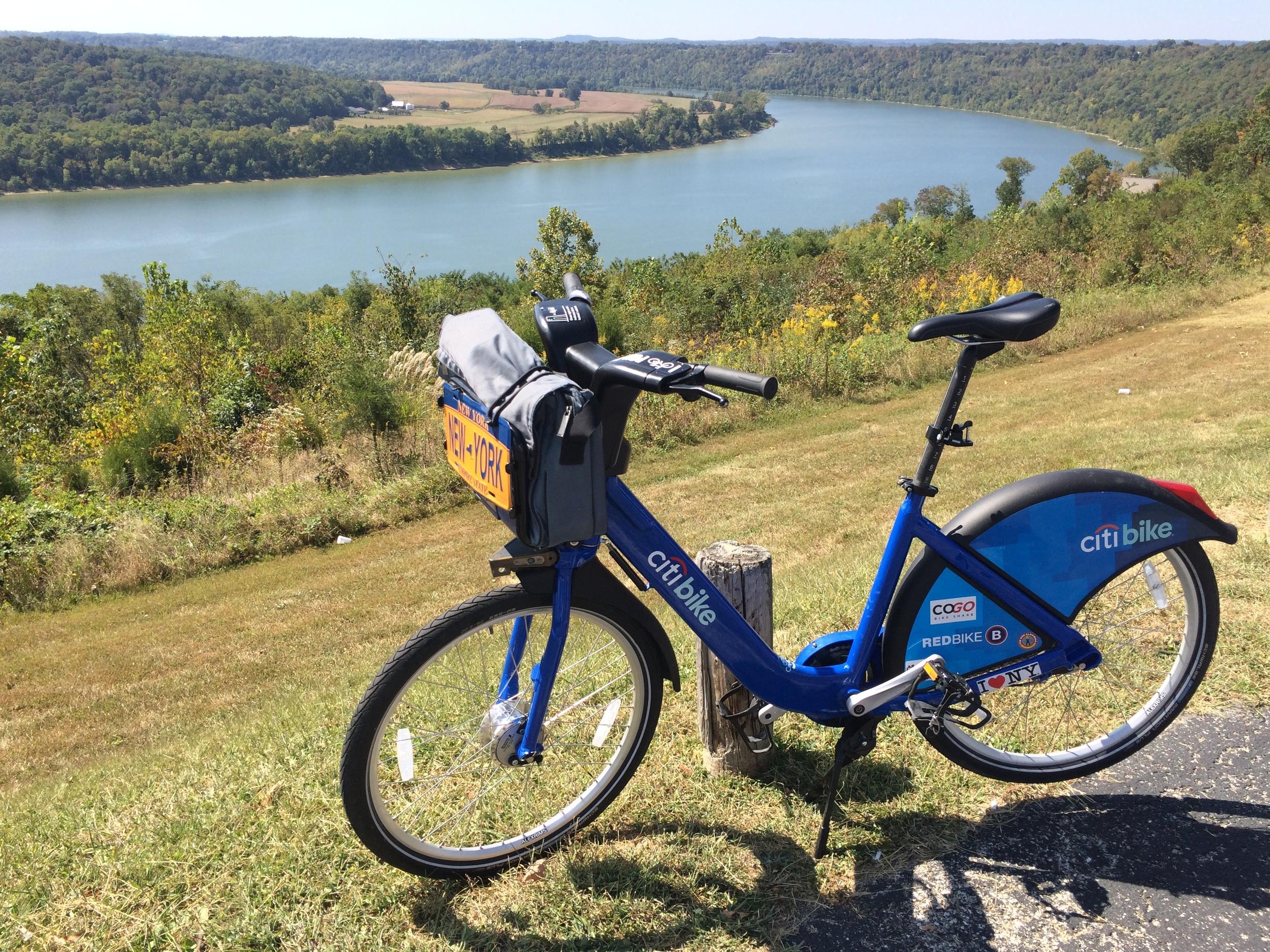 1,000 miles: Leavenworth, Indiana above the Ohio River
