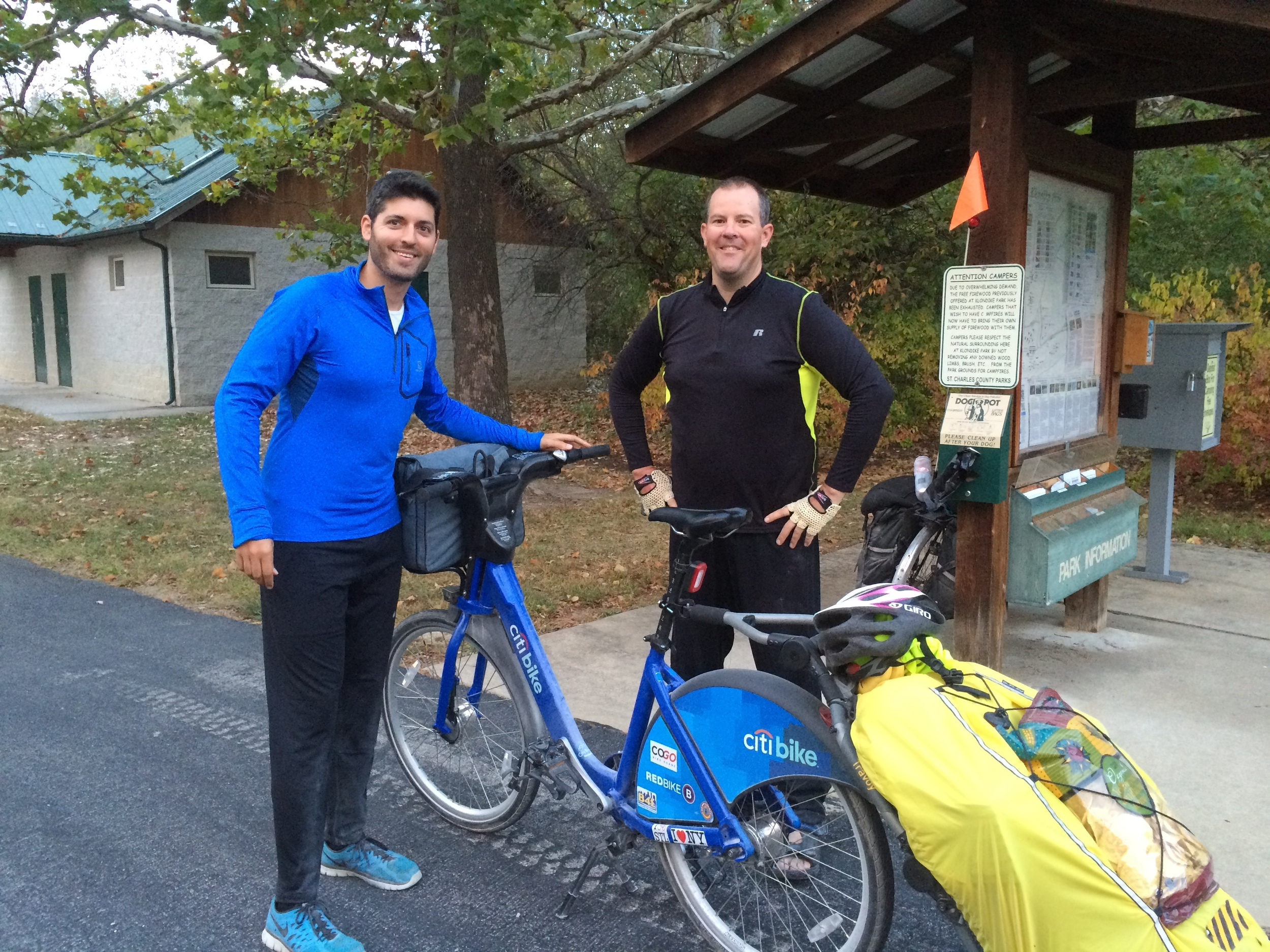 I met an Arkansas-based biker at Klondike Park Campground in Augusta, MO.