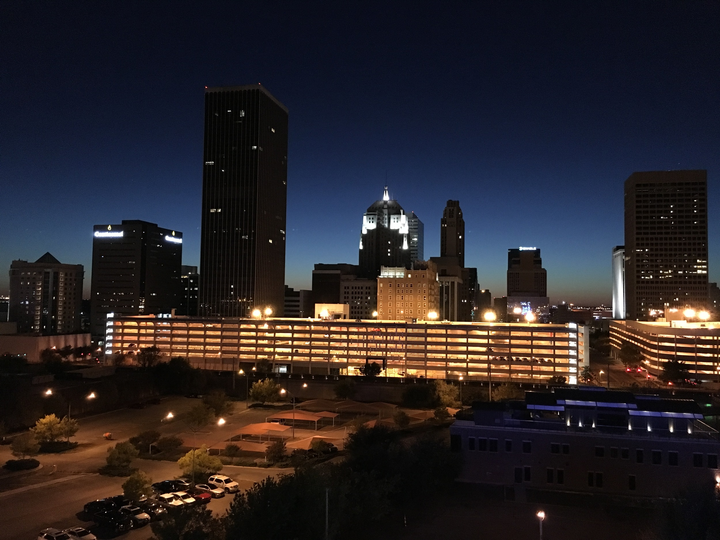 View from the rooftop of Aloft in Oklahoma City