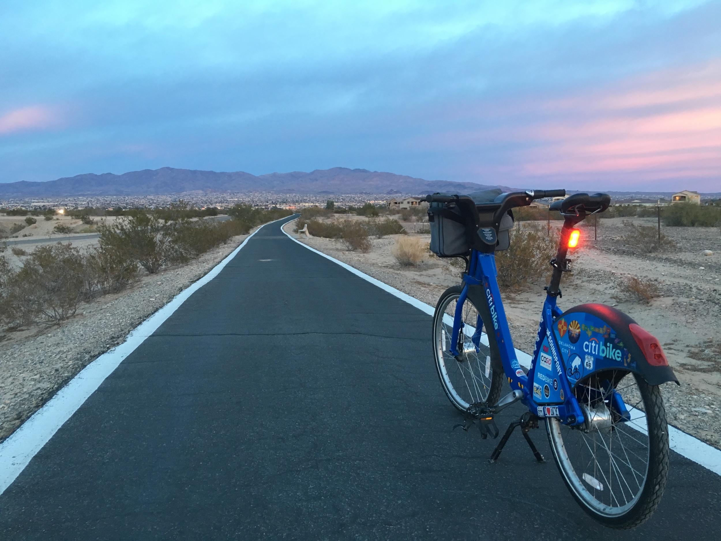 Bike path in Lake Havasu City, AZ