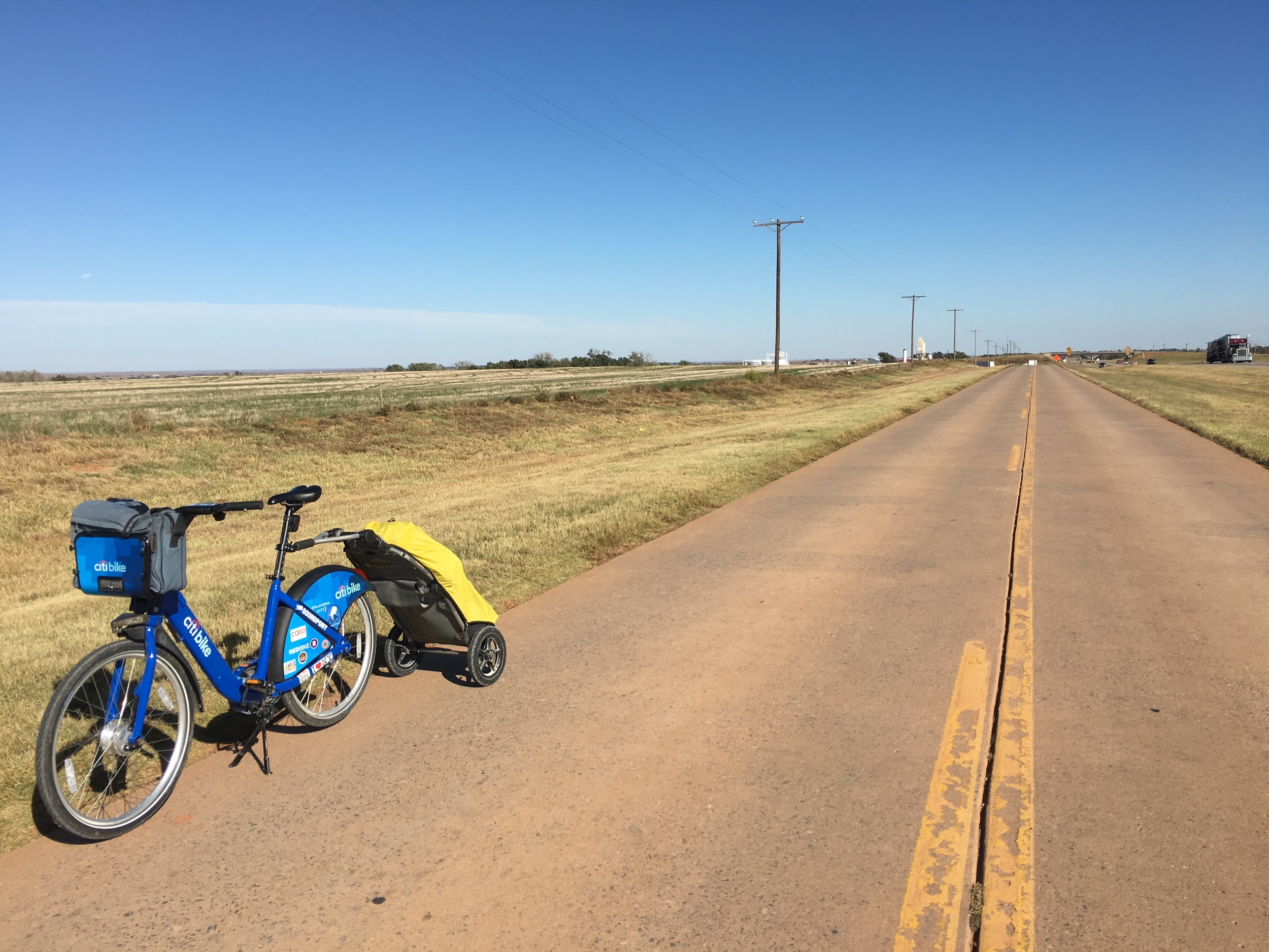 Approaching Elk City, OK on Route 66.