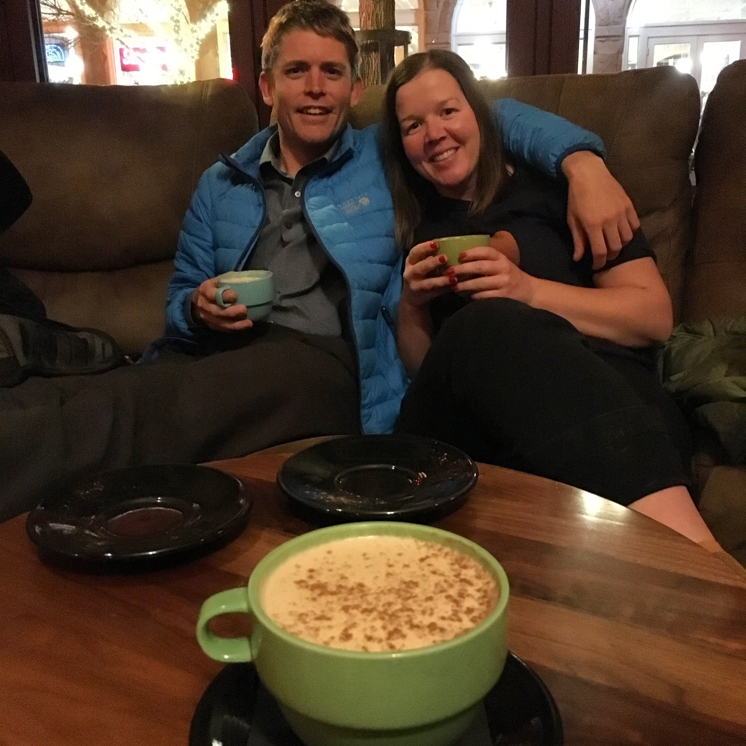 My wonderful hosts + whisky chai