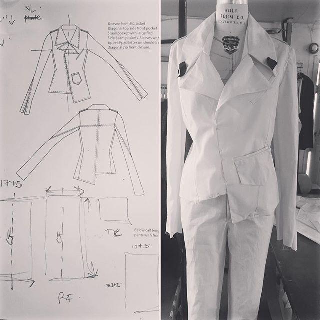 #muslin #winterfashion #notchedcollar #uneven #hemlines #pockets #details #sketches #tailoredforthestreets