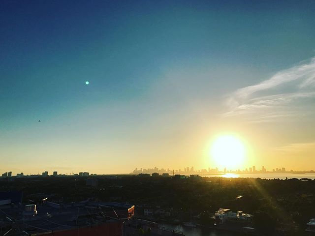 #sunset #miamvibes another day at the #office ready for #2017