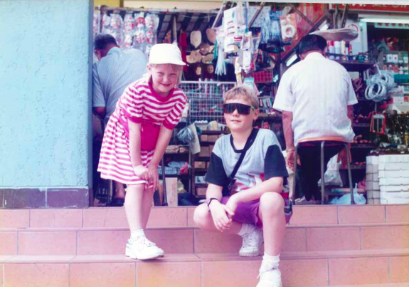 Street cred with my bro in Singapore.