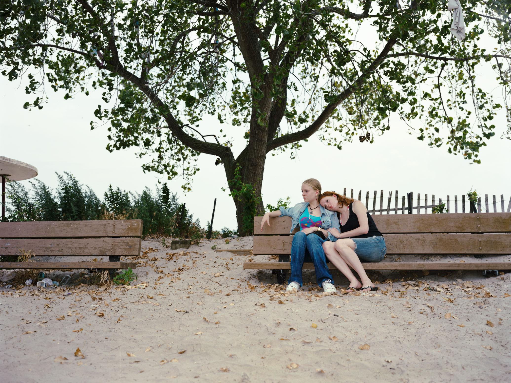 Val & Beth, Plum Beach, Brooklyn 2012