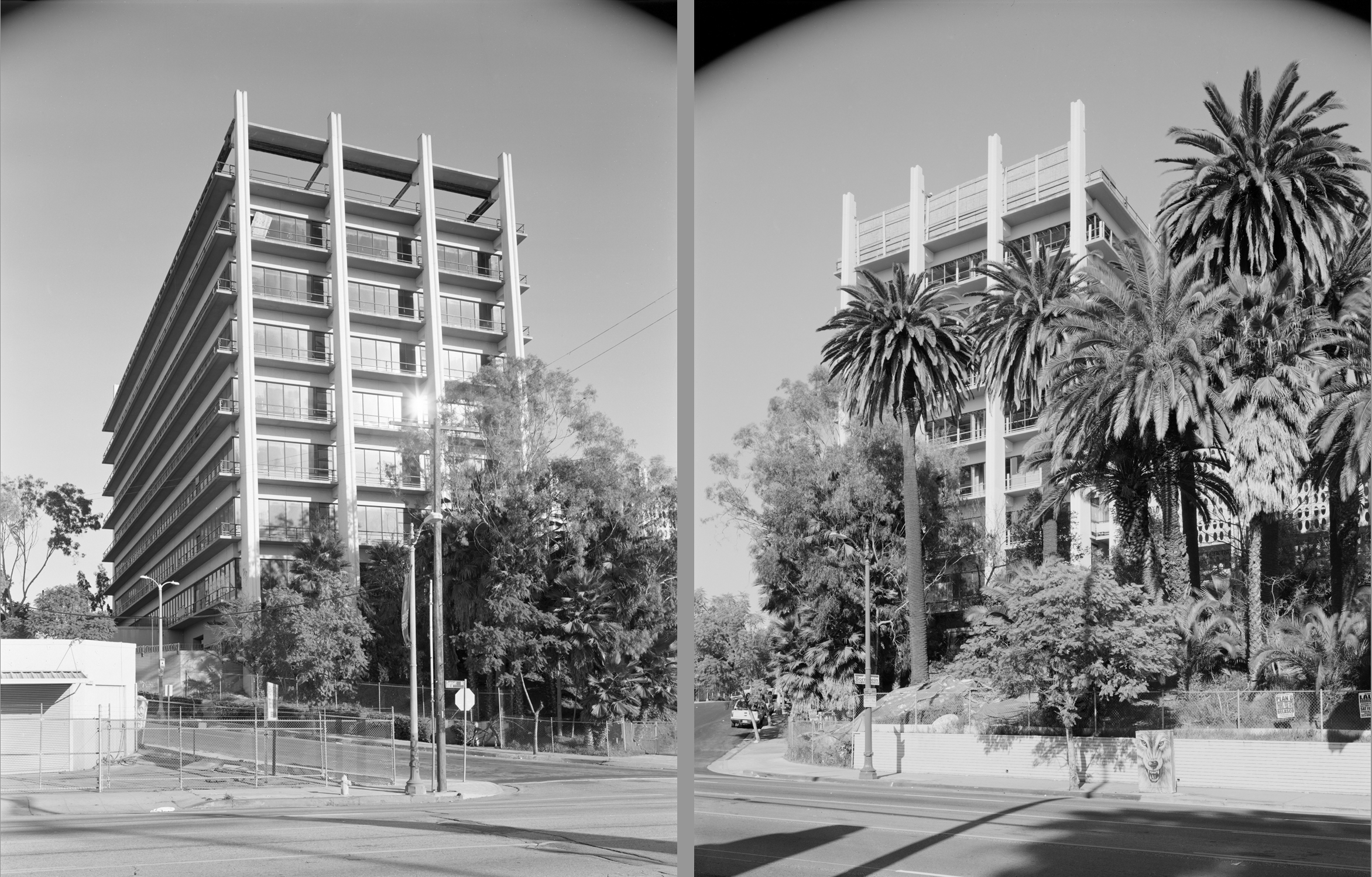 Sunset Blvd, Echo Park, L.A. (Diptych)