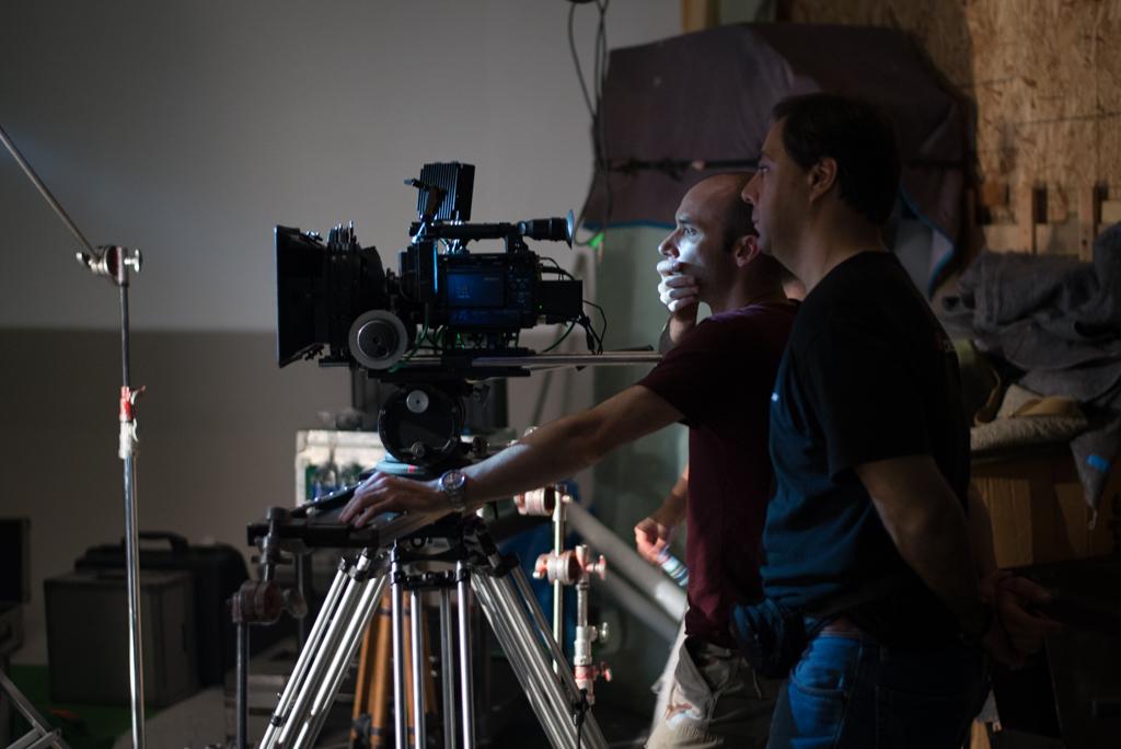 Aymeric Montouchet and Feli di Giorgio setting up a shot.
