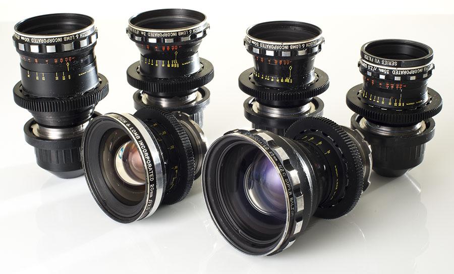 Vintage Bausch + Lomb Super Baltar primes 20mm, 25mm, 35mm, 50mm, 75mm, 100mm