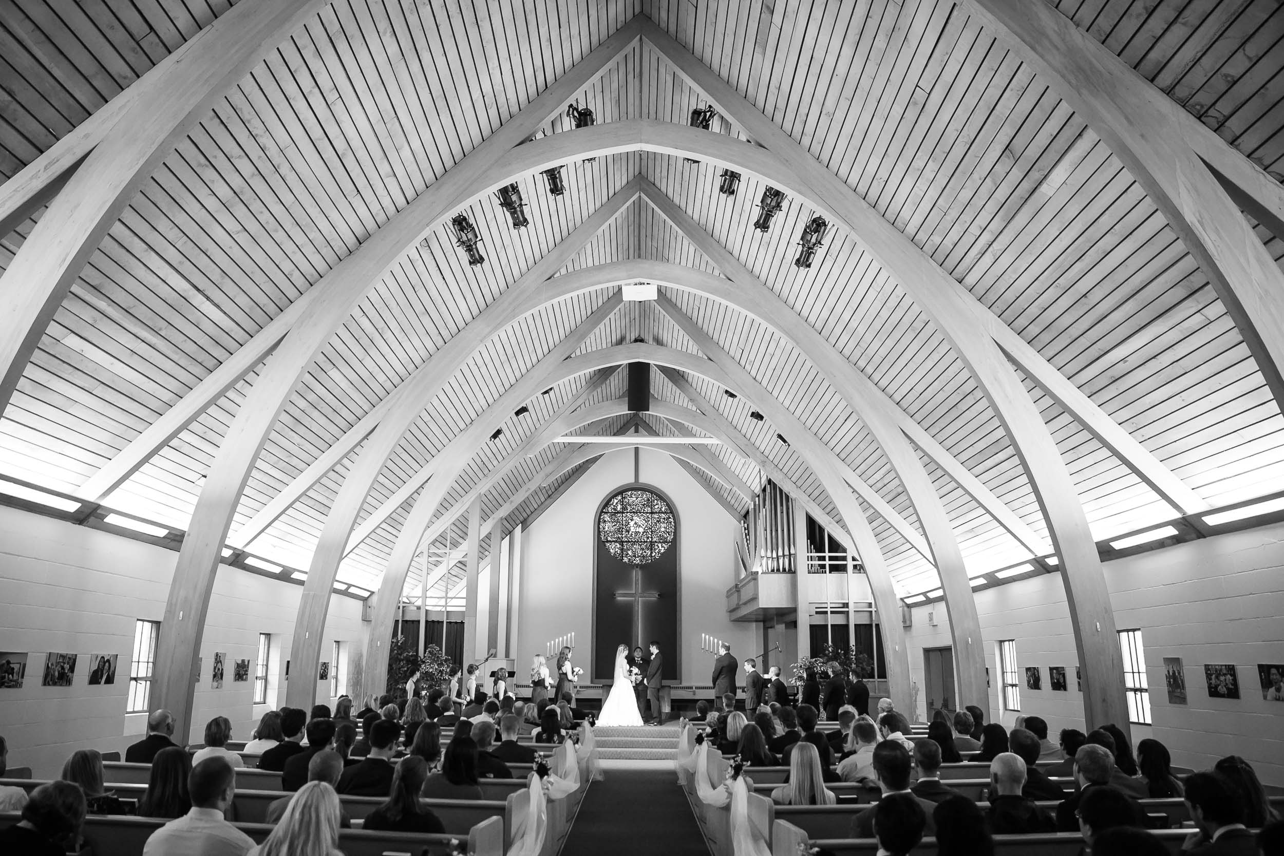Seattle Community Church Wedding Photography | By G. Lin Photography | Gorgeous shot of church sanctuary