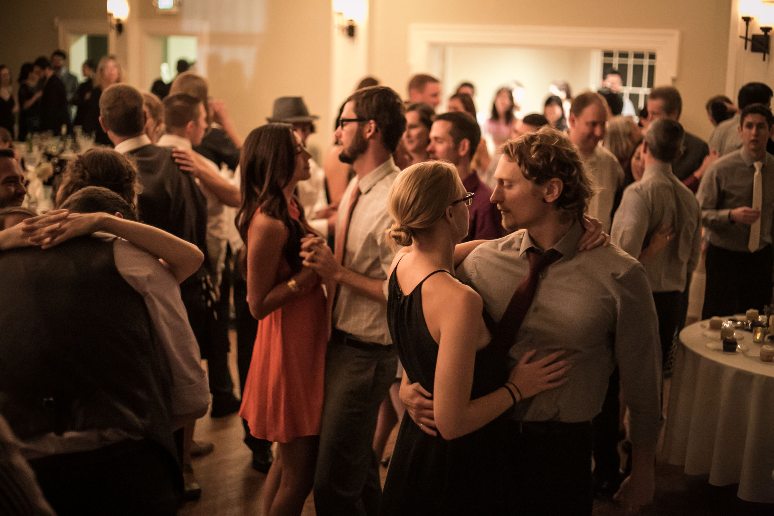 Romantic dancing for guests | The Hall at Greenlake Wedding Reception Photo | By G. Lin Photography
