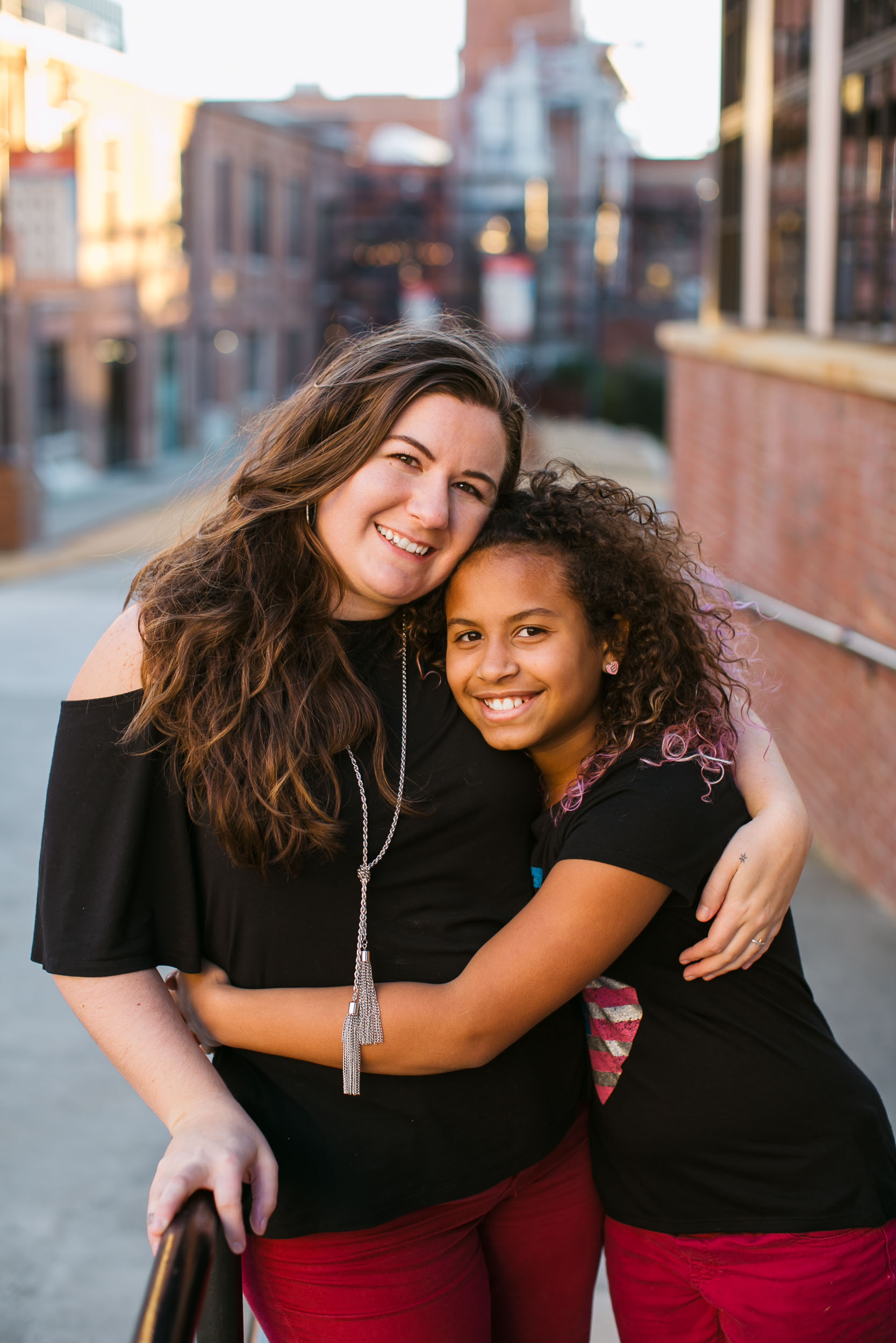 Durham Family Photographer | G. Lin Photography | Mother holding daughter and smiling