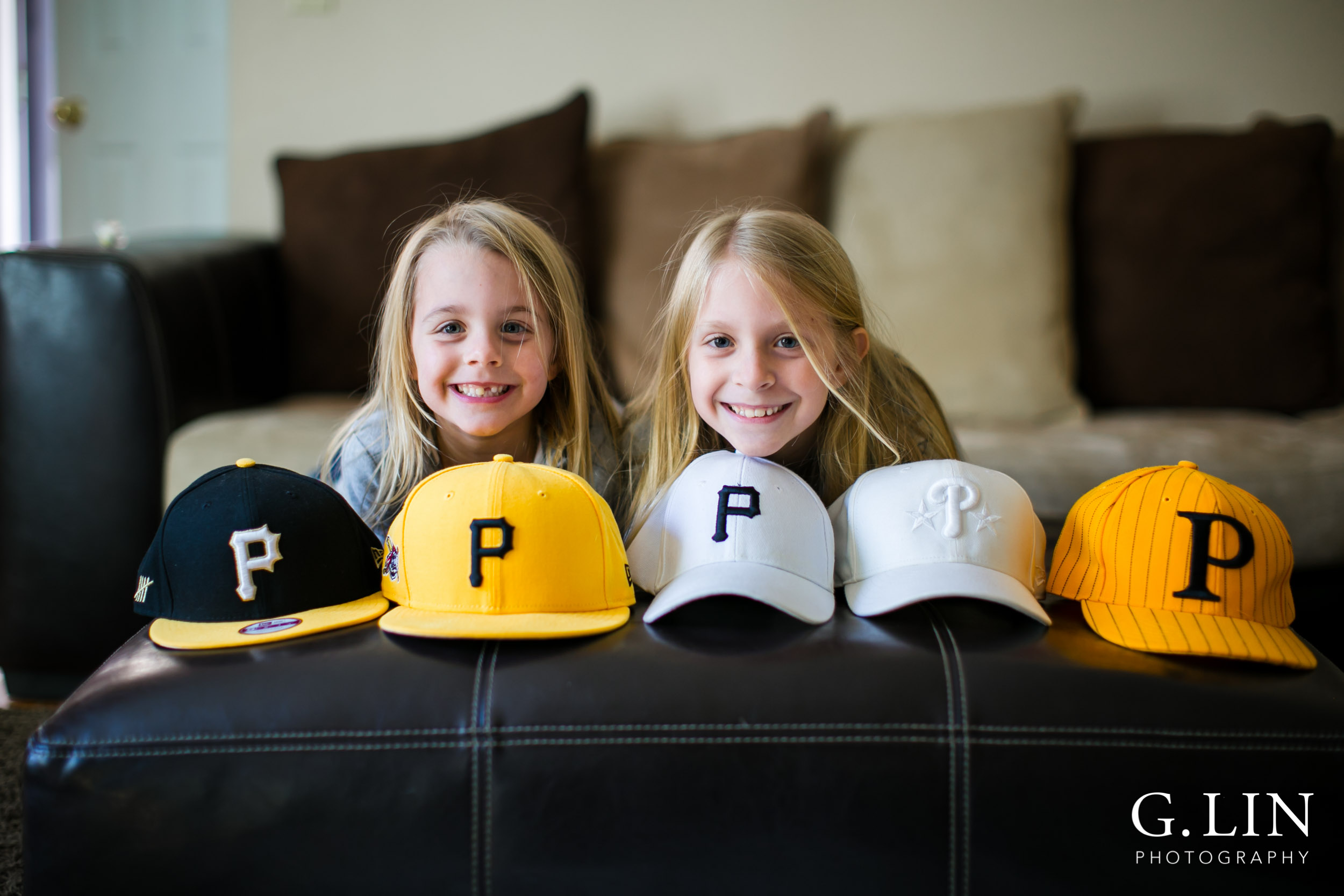 kids with hats in cary lifestyle portrait