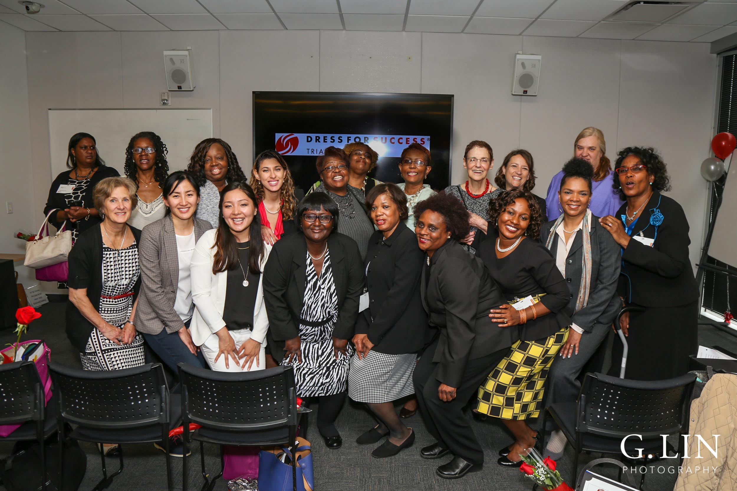 Raleigh Event Photographer | G. Lin Photography | Group picture of participants smiling at camera