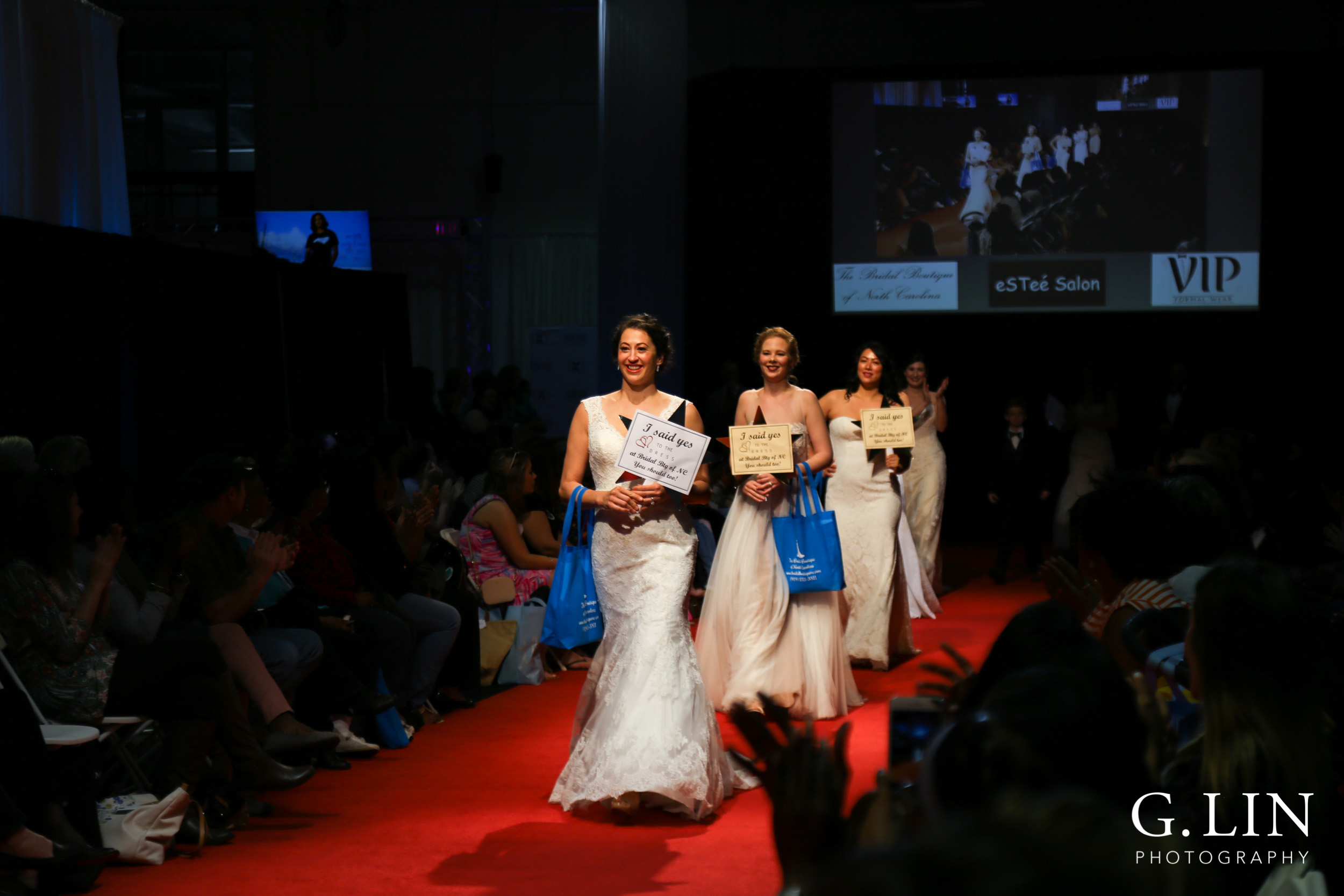 Raleigh Event Photographer | G. Lin Photography | Models walking down runway for close of show