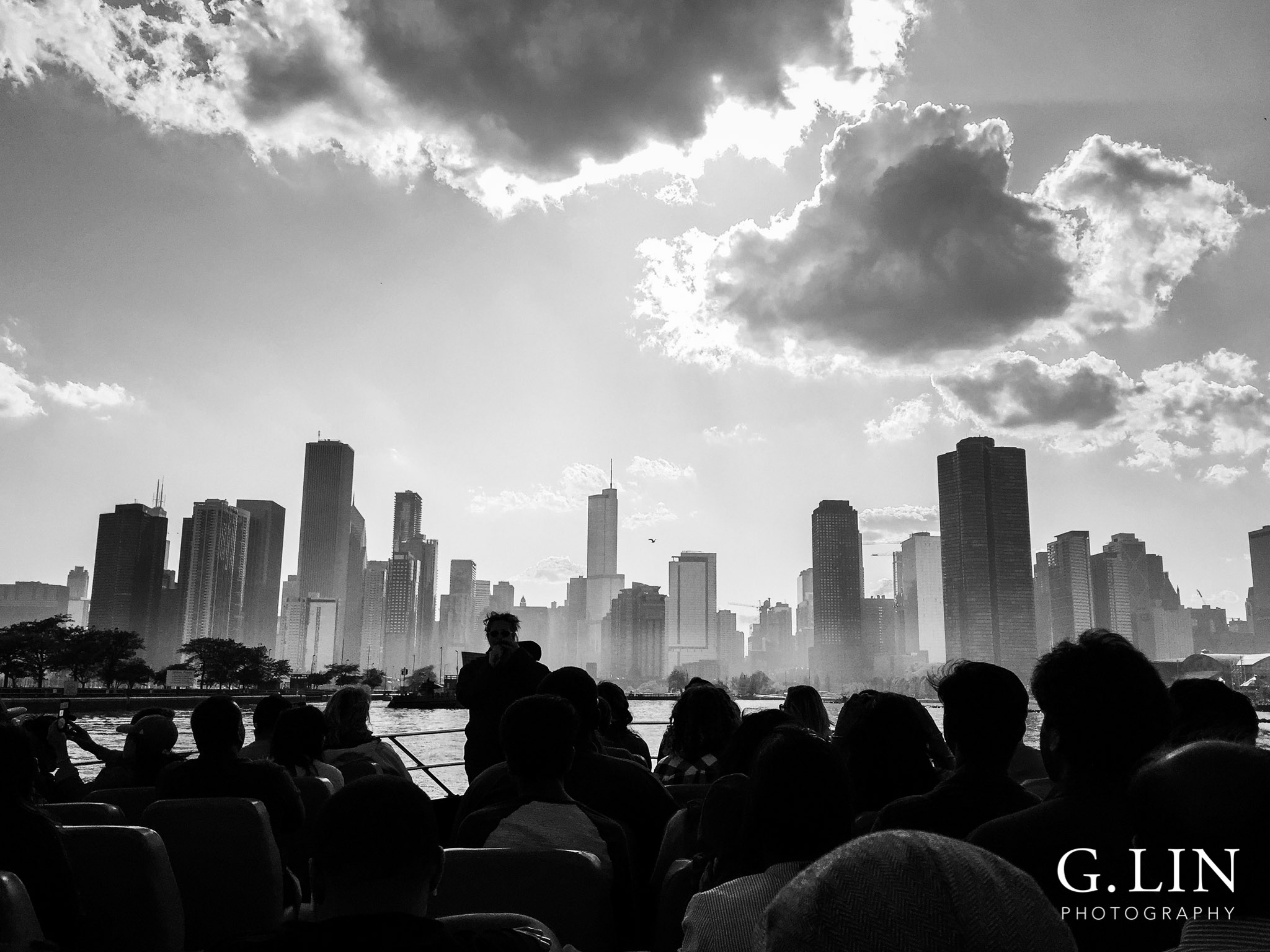 Raleigh Family Photographer | G. Lin Photography | Chicago skyline in black and white
