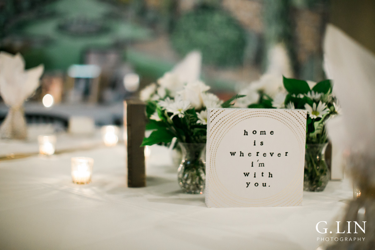 Raleigh Event Photographer | G. Lin Photography | Decorations on white table