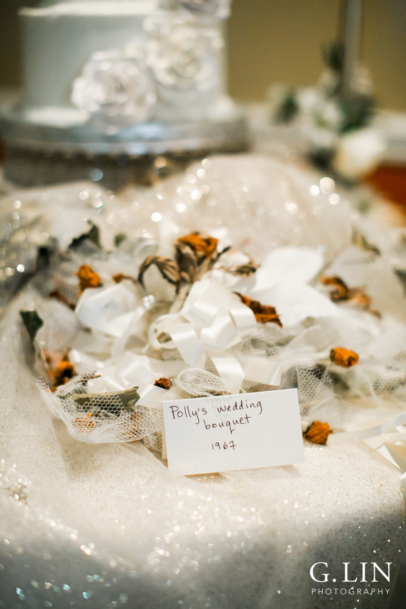 Raleigh Event Photographer | G. Lin Photography | Image of wedding bouquet on white table