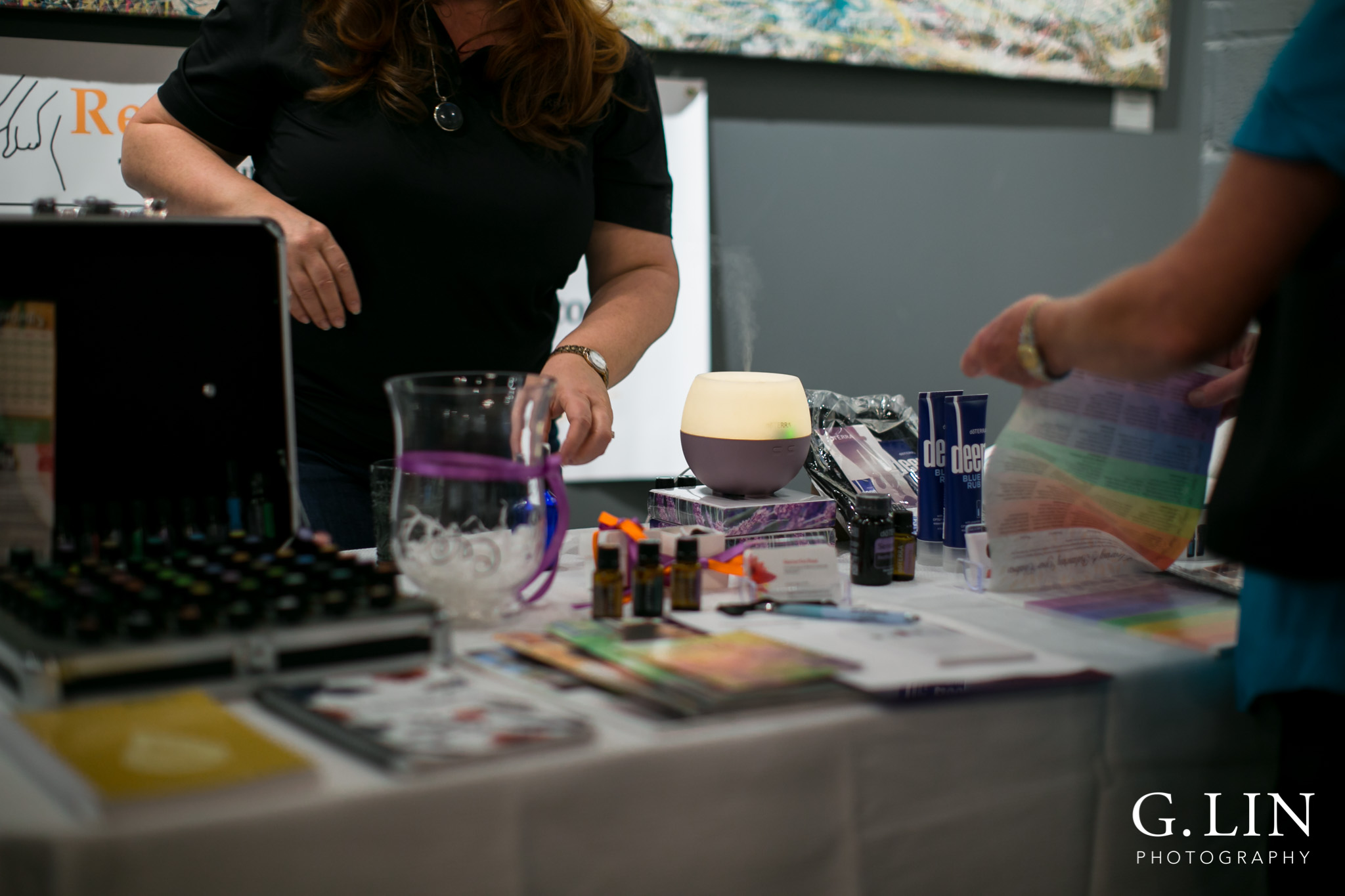Raleigh Event Photographer | G. Lin Photography | Close up shot of products on table