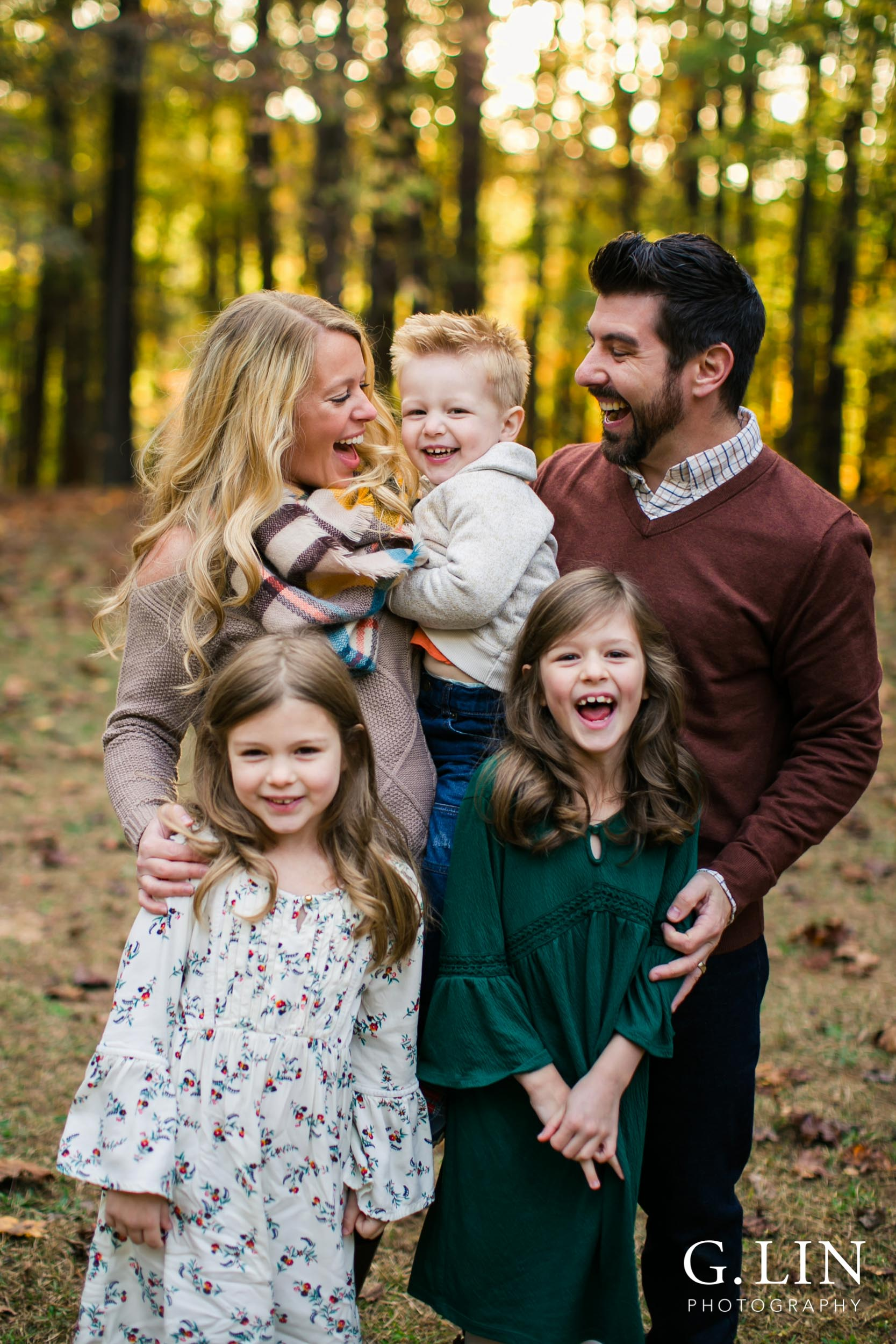 Raleigh Family Photographer | G. Lin Photography | Family together smiling and laughing
