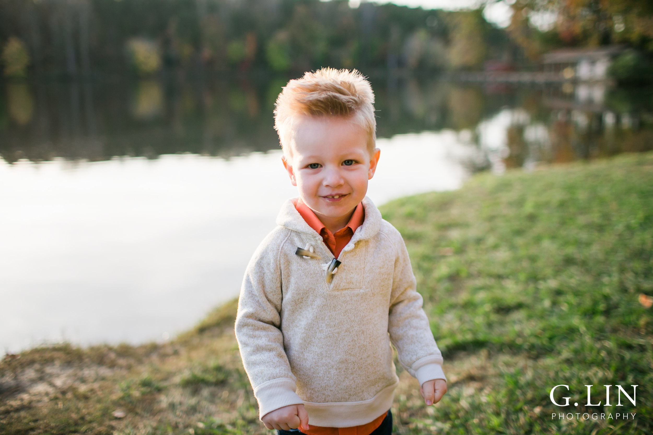 Raleigh Family Photographer | G. Lin Photography | sweet smile of little boy