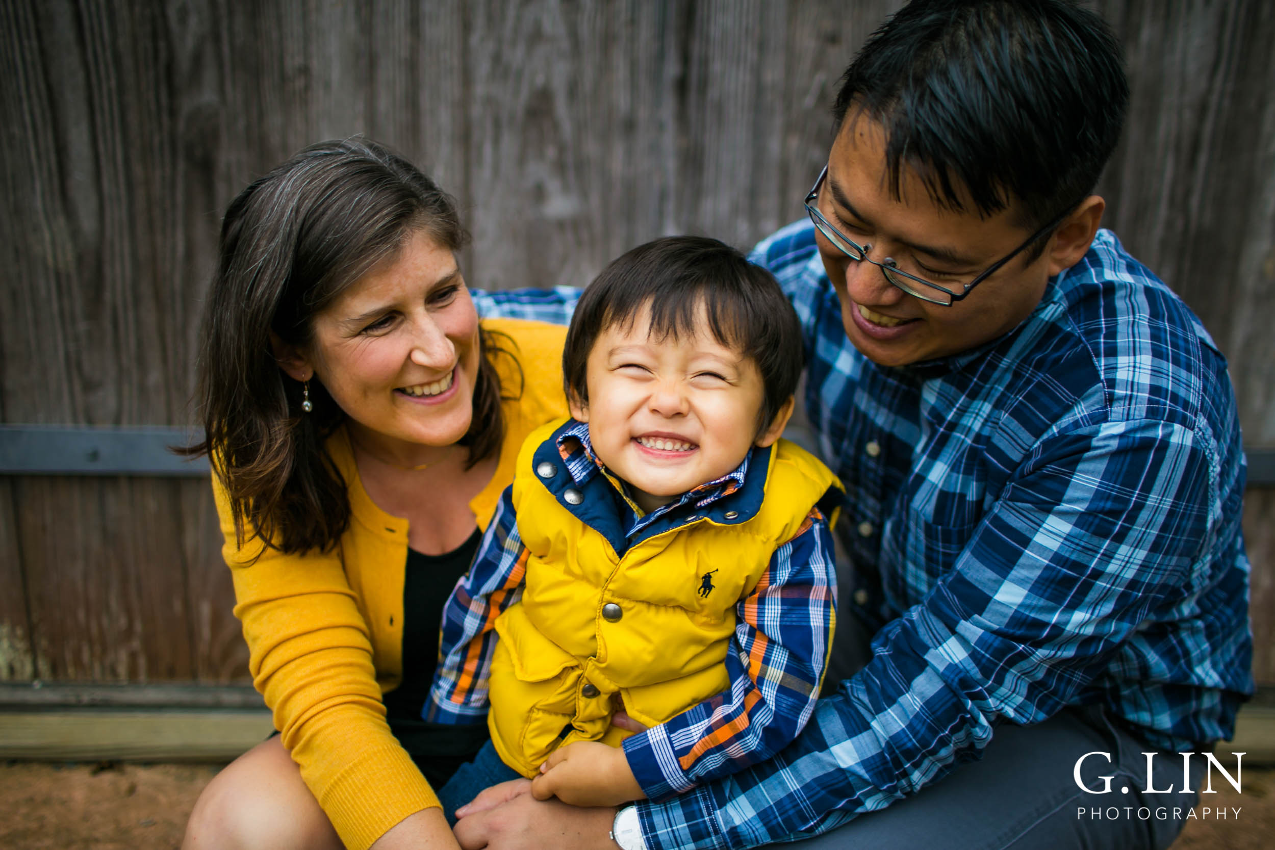 Durham Family Photography | G. Lin Photography | Family of 3 smiling
