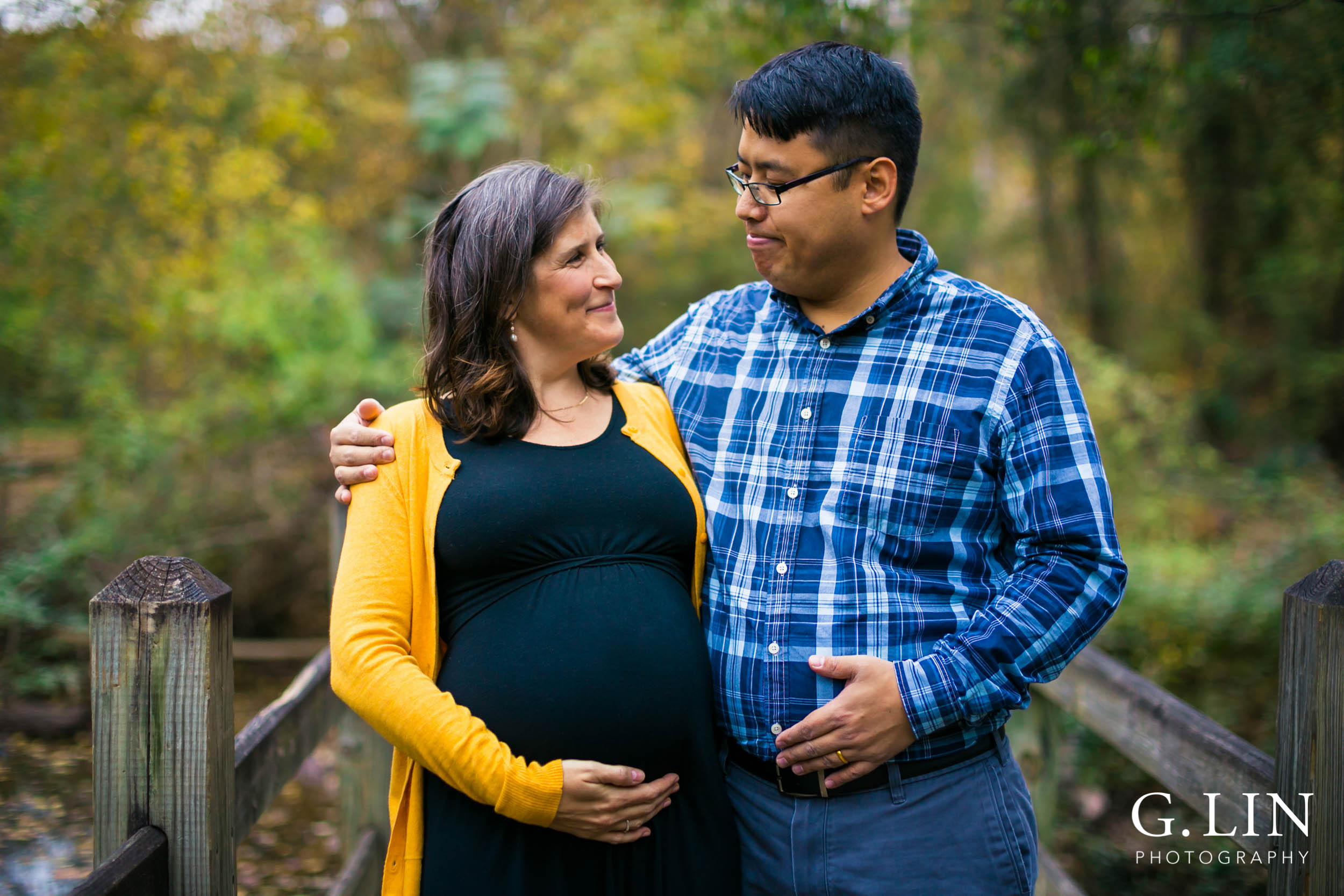 Durham Family Photography | G. Lin Photography | Husband and wife smiling at each other