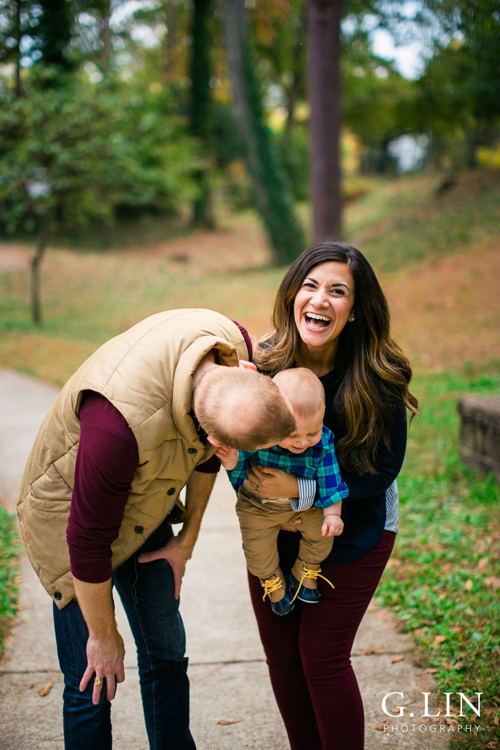 Durham Family Photographer | G. Lin Photography | candid moment of family having fun
