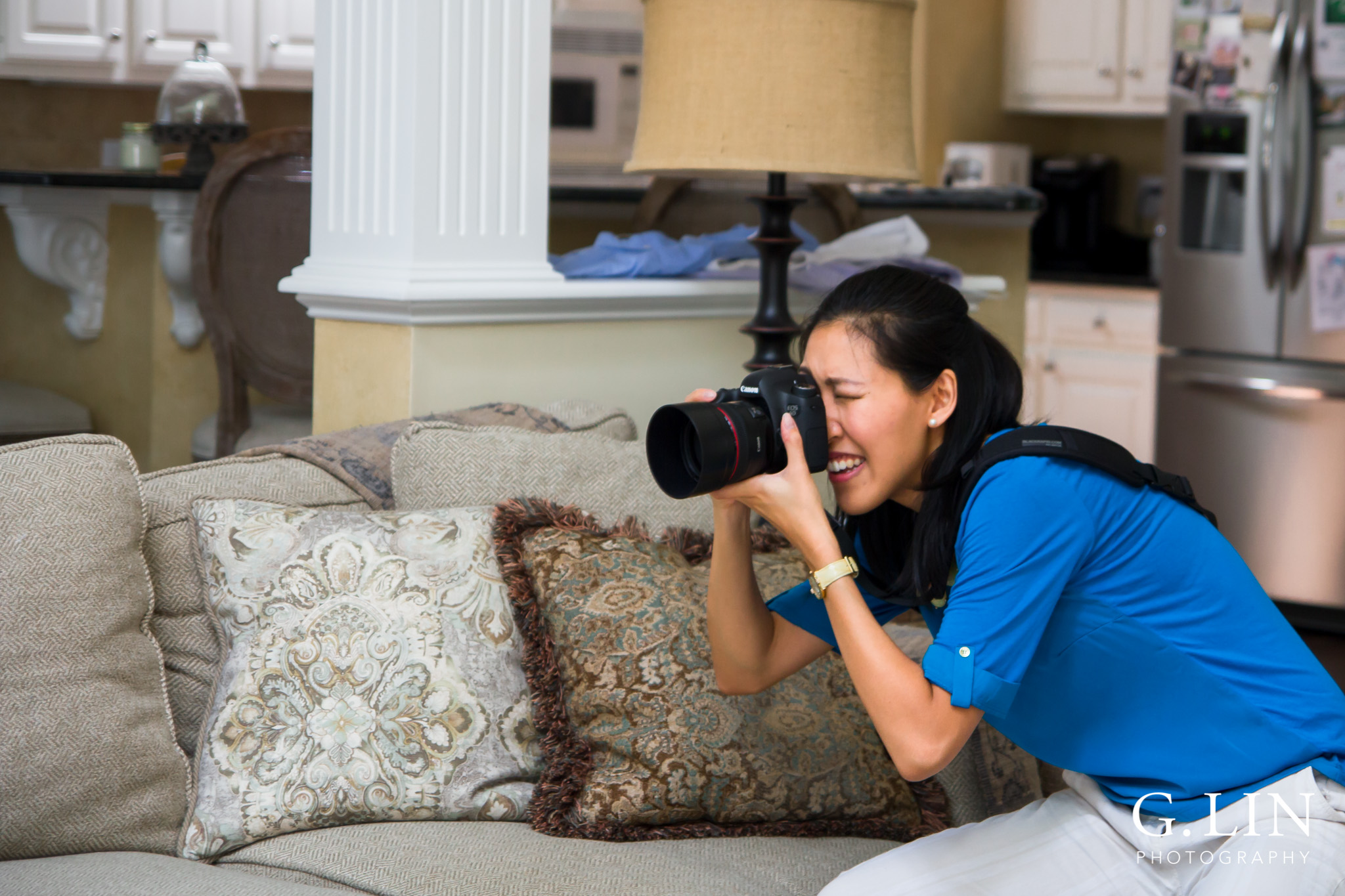Photo of me using the camera   Family Photographer in Raleigh NC   By G. Lin Photography