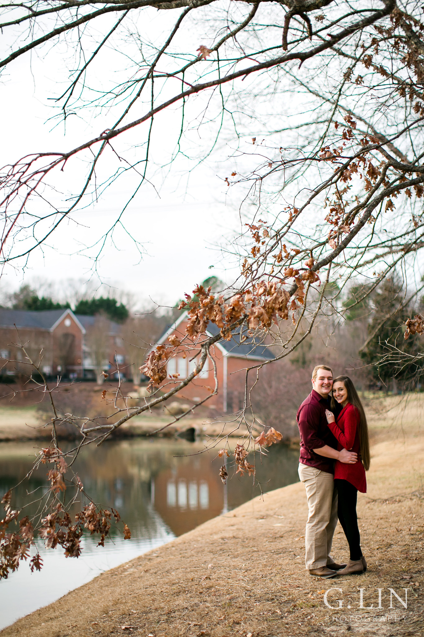 Winter Engagement Photo | Raleigh Engagement Photographer | By G. Lin Photography